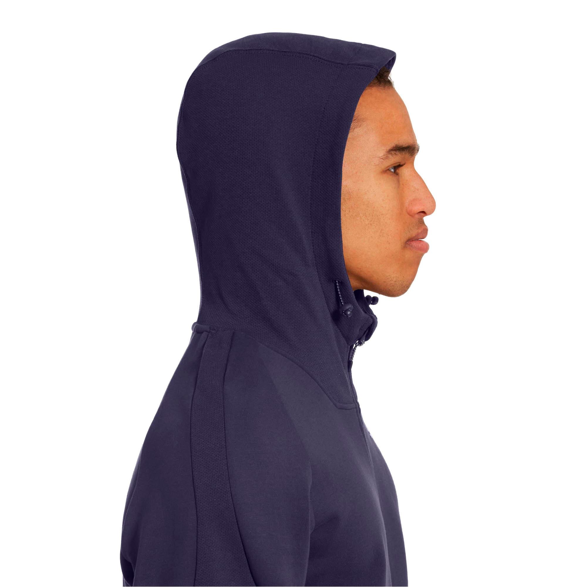 Thumbnail 4 of Evostripe Move Hooded Jacket, Peacoat, medium
