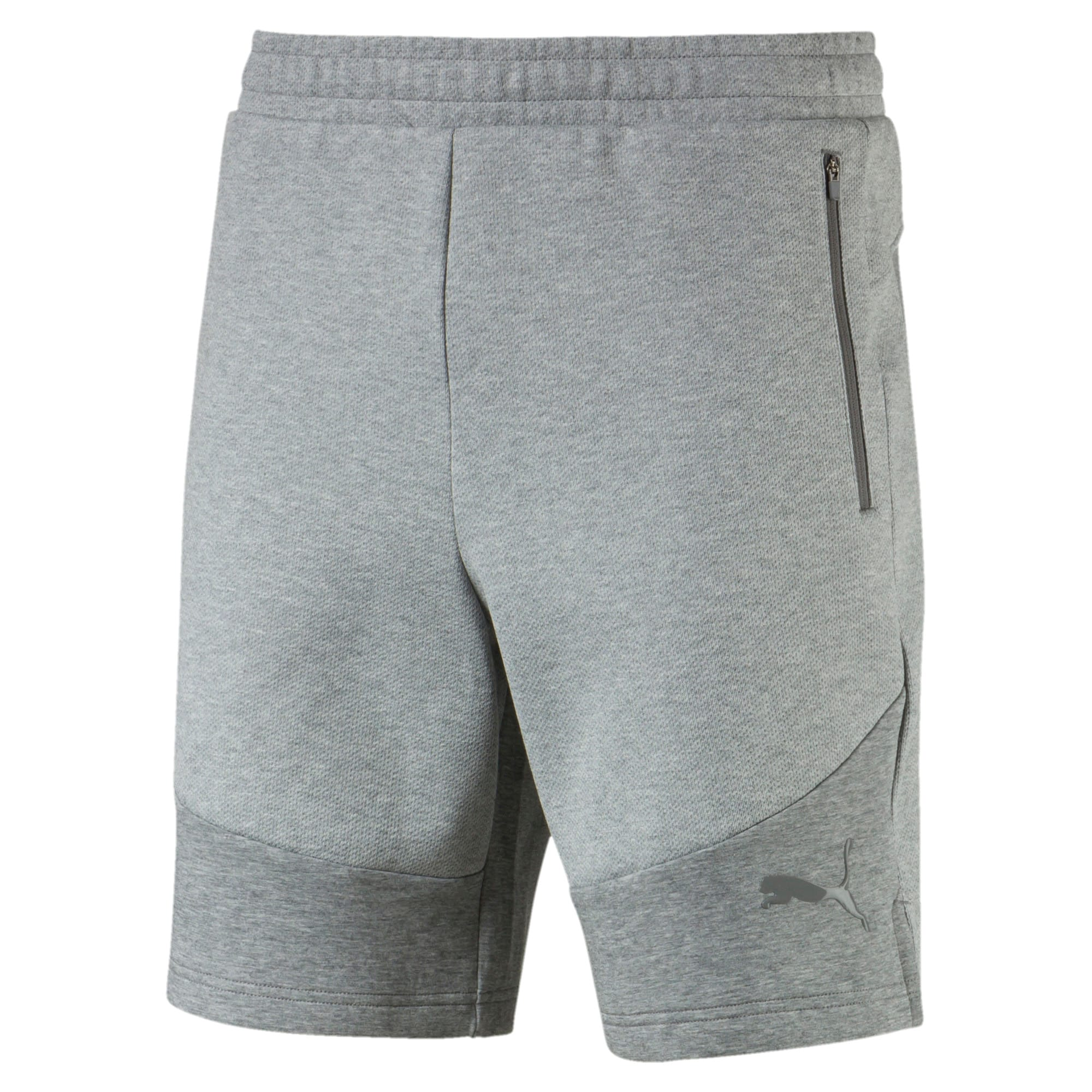 "Thumbnail 4 of Evostripe Move 8"" Men's Shorts, Medium Gray Heather, medium"