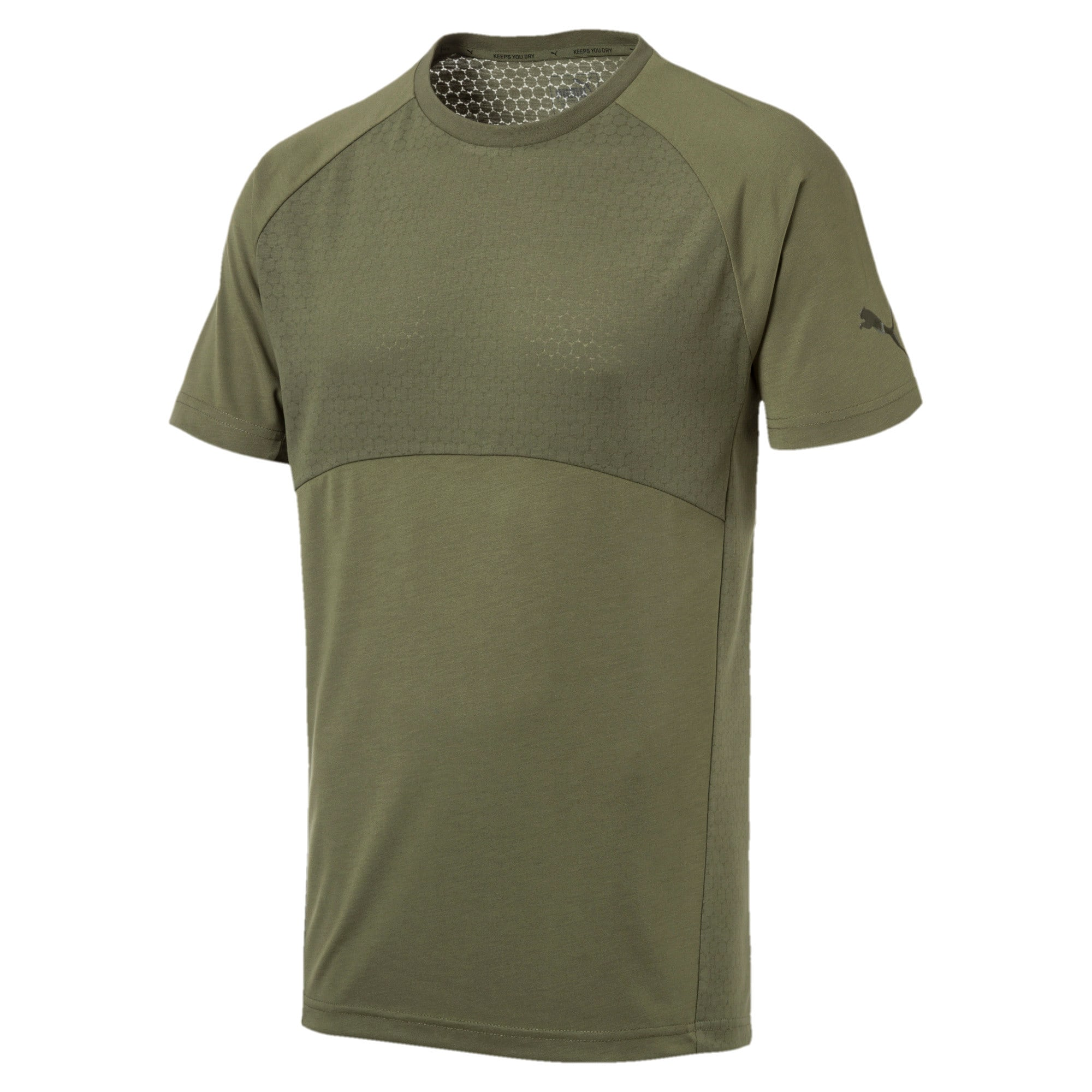 Thumbnail 1 of Evostripe Lite Men's Tee, Olivine, medium