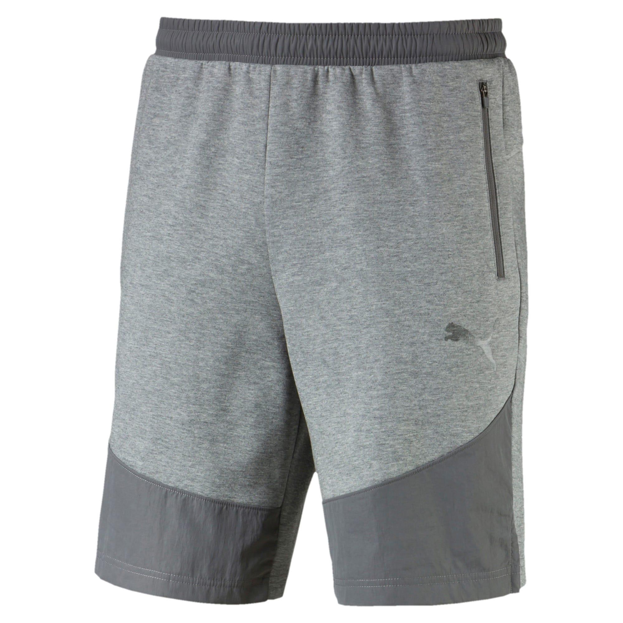 Thumbnail 2 of Evostripe Lite Men's Shorts, Medium Gray Heather, medium