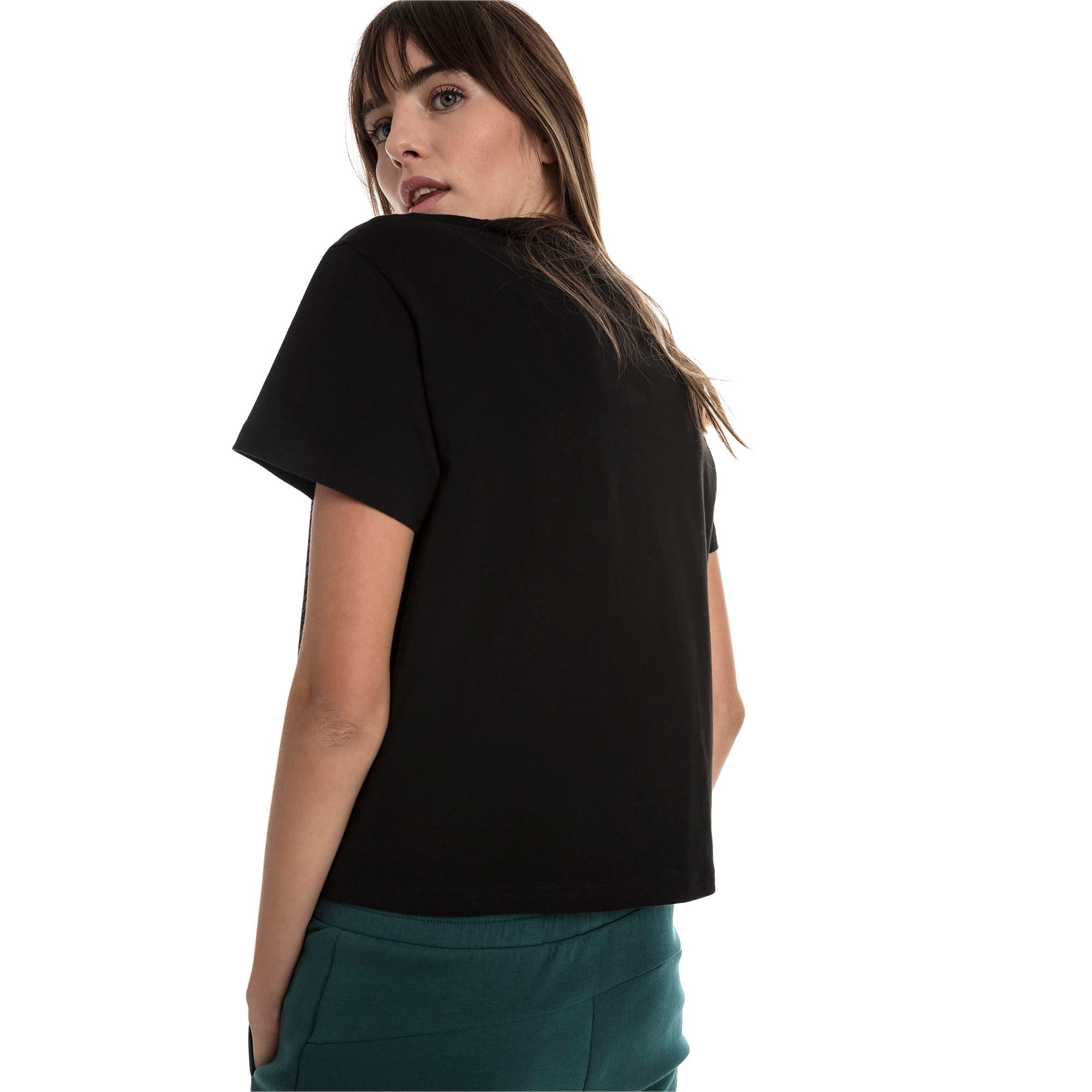 Thumbnail 2 of Evostripe Women's Tee, Cotton Black, medium