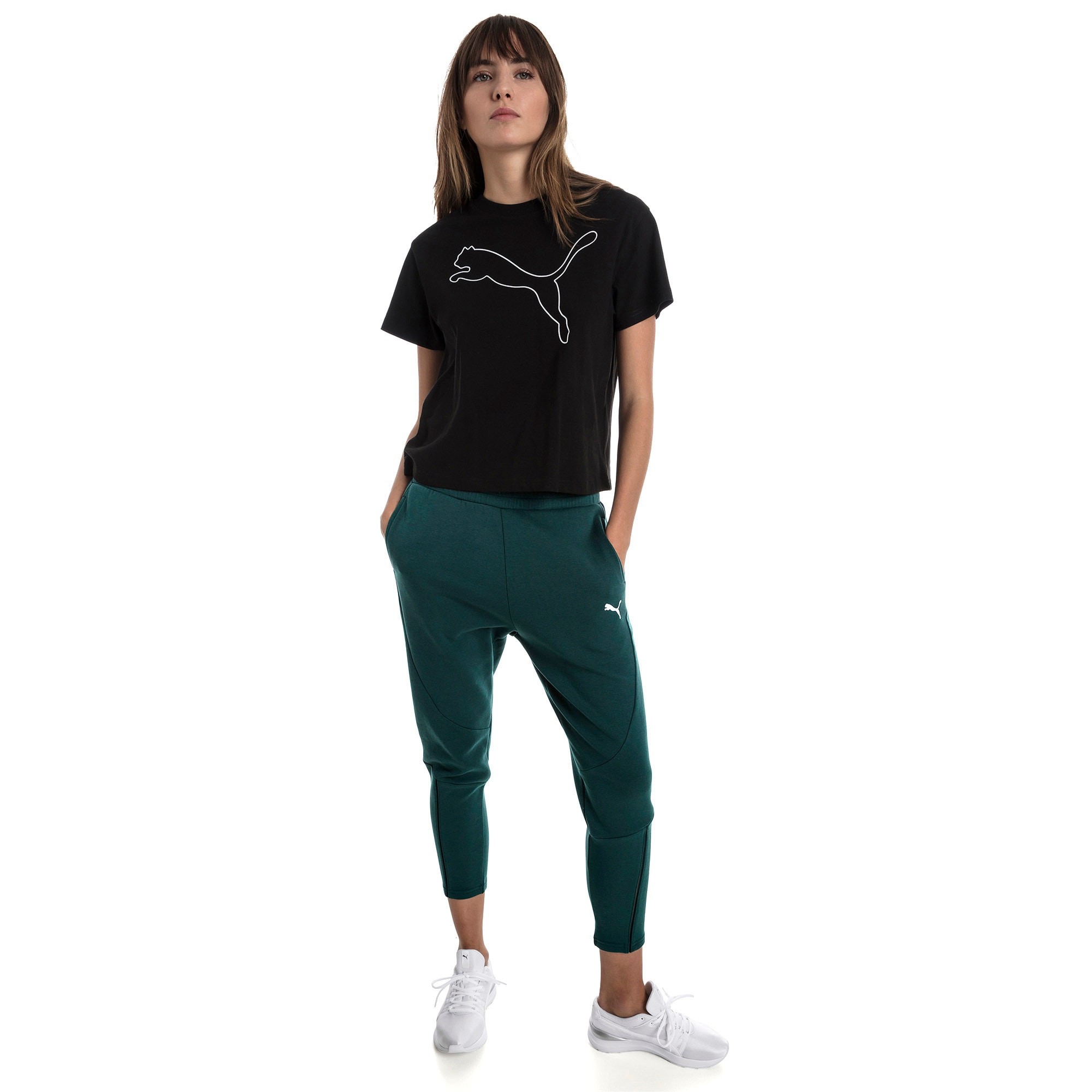 Thumbnail 3 of Evostripe Women's Tee, Cotton Black, medium
