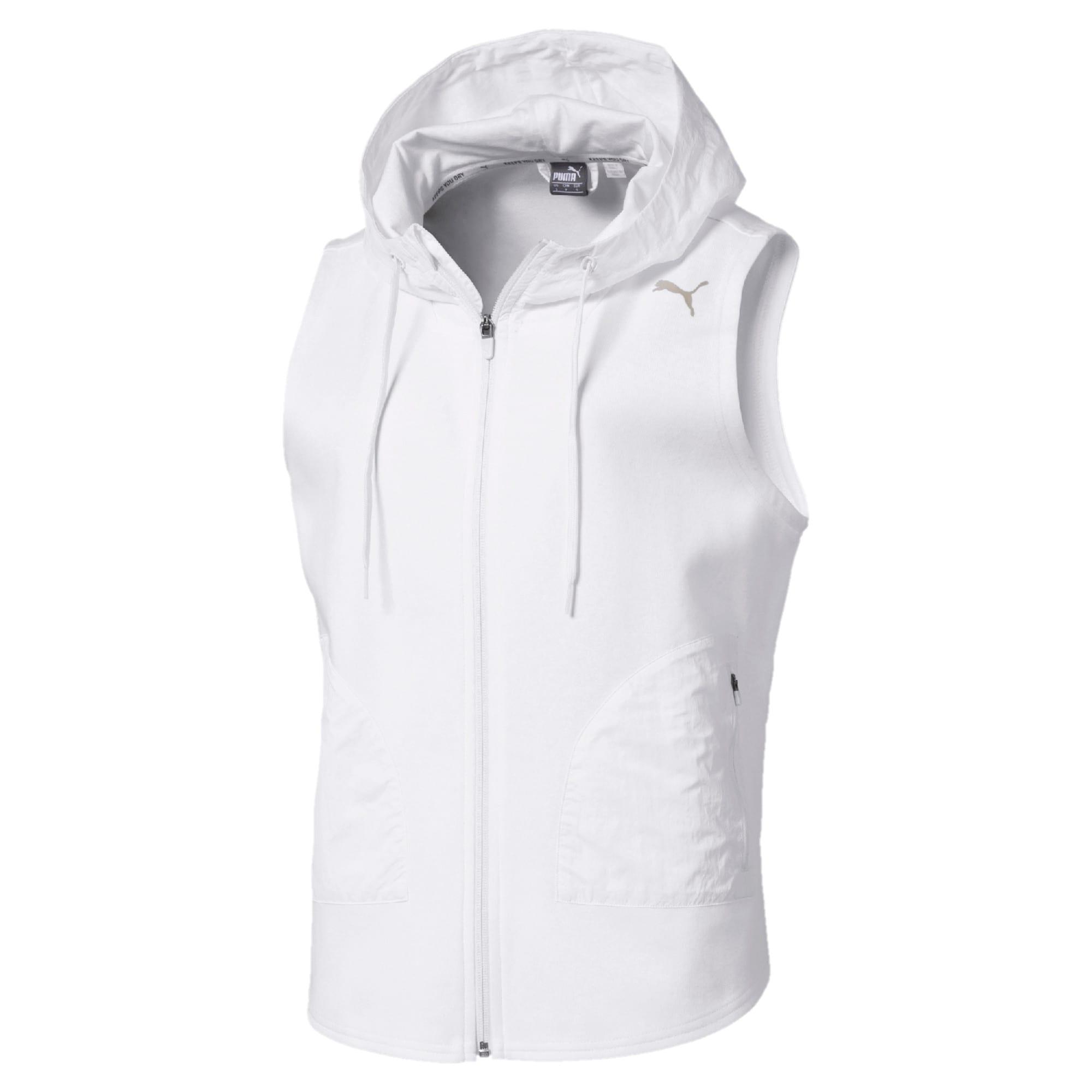 Thumbnail 1 of Evostripe Lite Women's Sleeveless Hooded Jacket, Puma White, medium