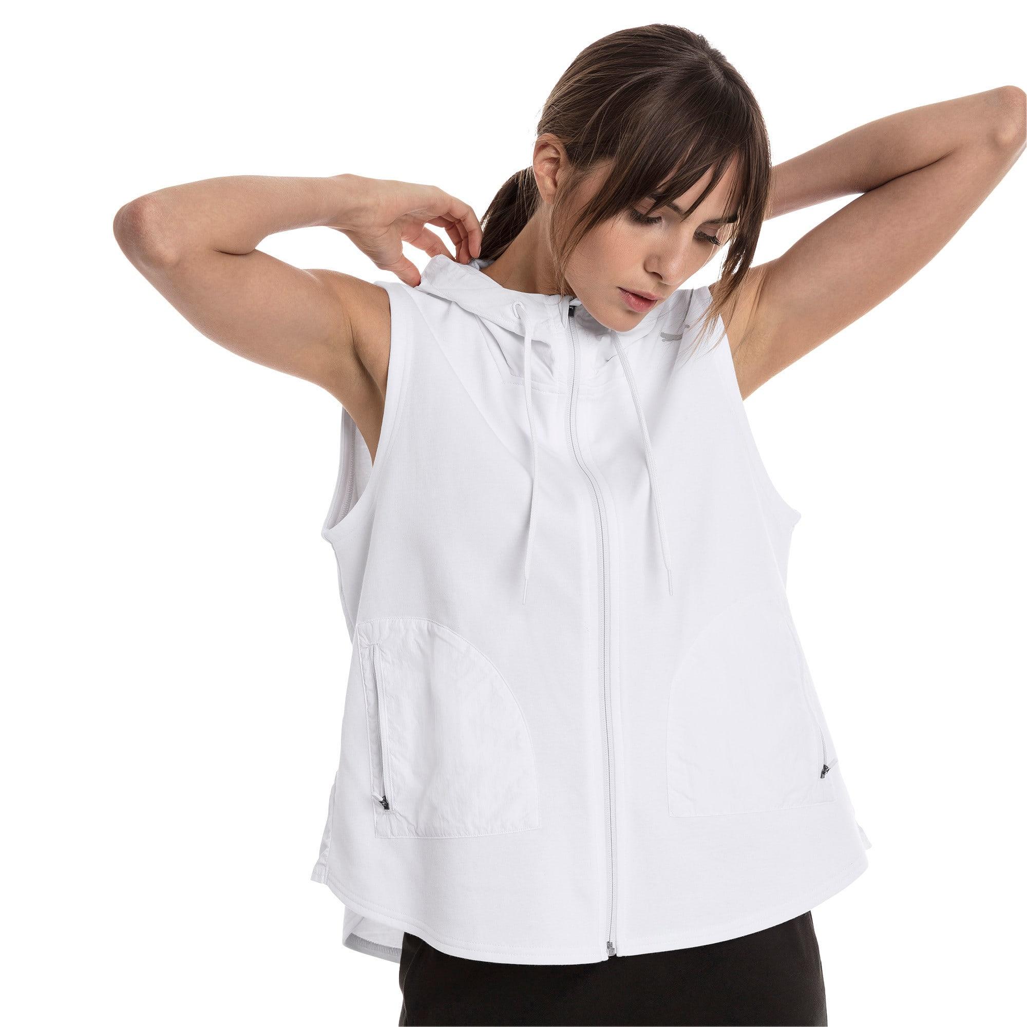 Thumbnail 2 of Evostripe Lite Women's Sleeveless Hooded Jacket, Puma White, medium