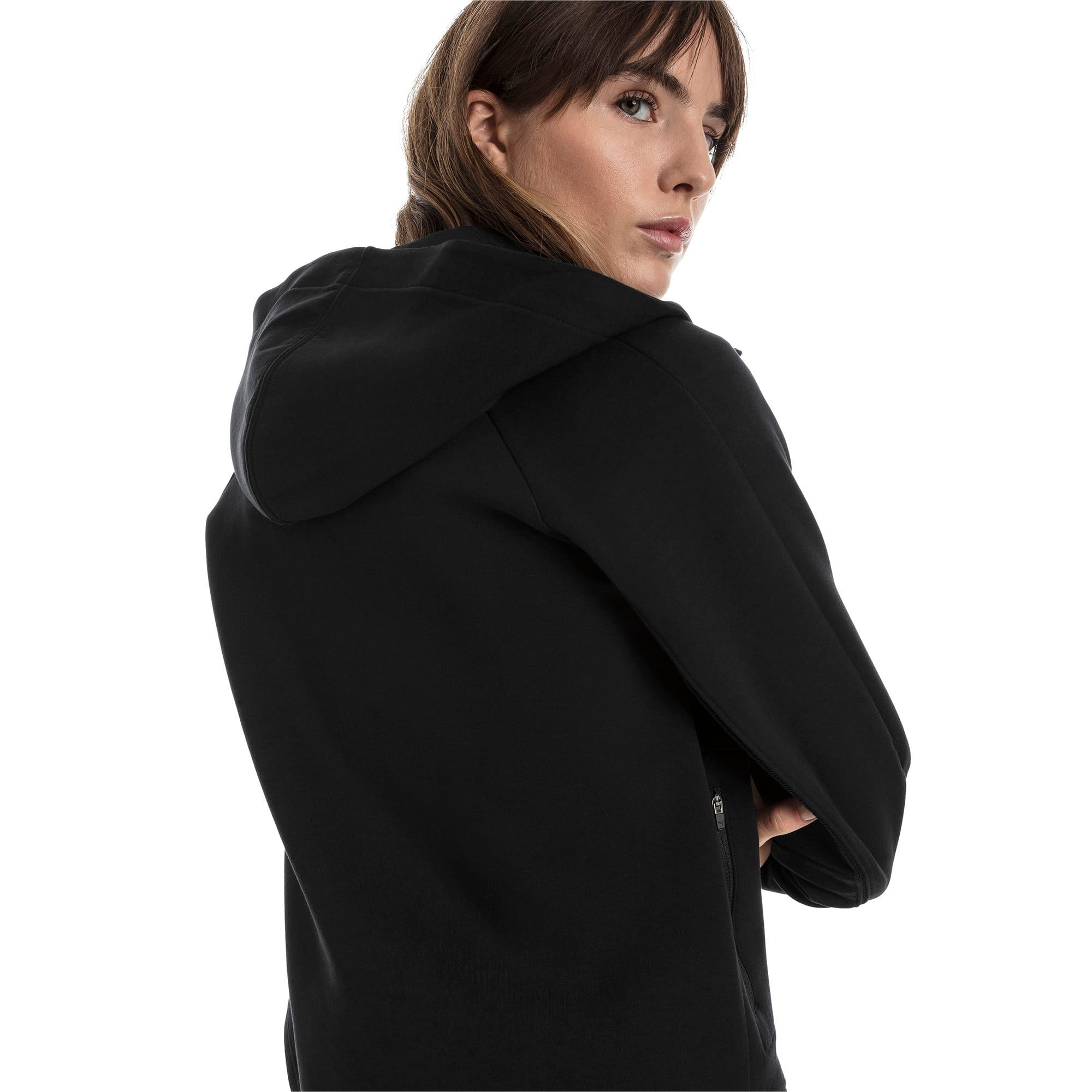 Thumbnail 2 of Evostripe Move Damen Kapuzenjacke, Cotton Black, medium