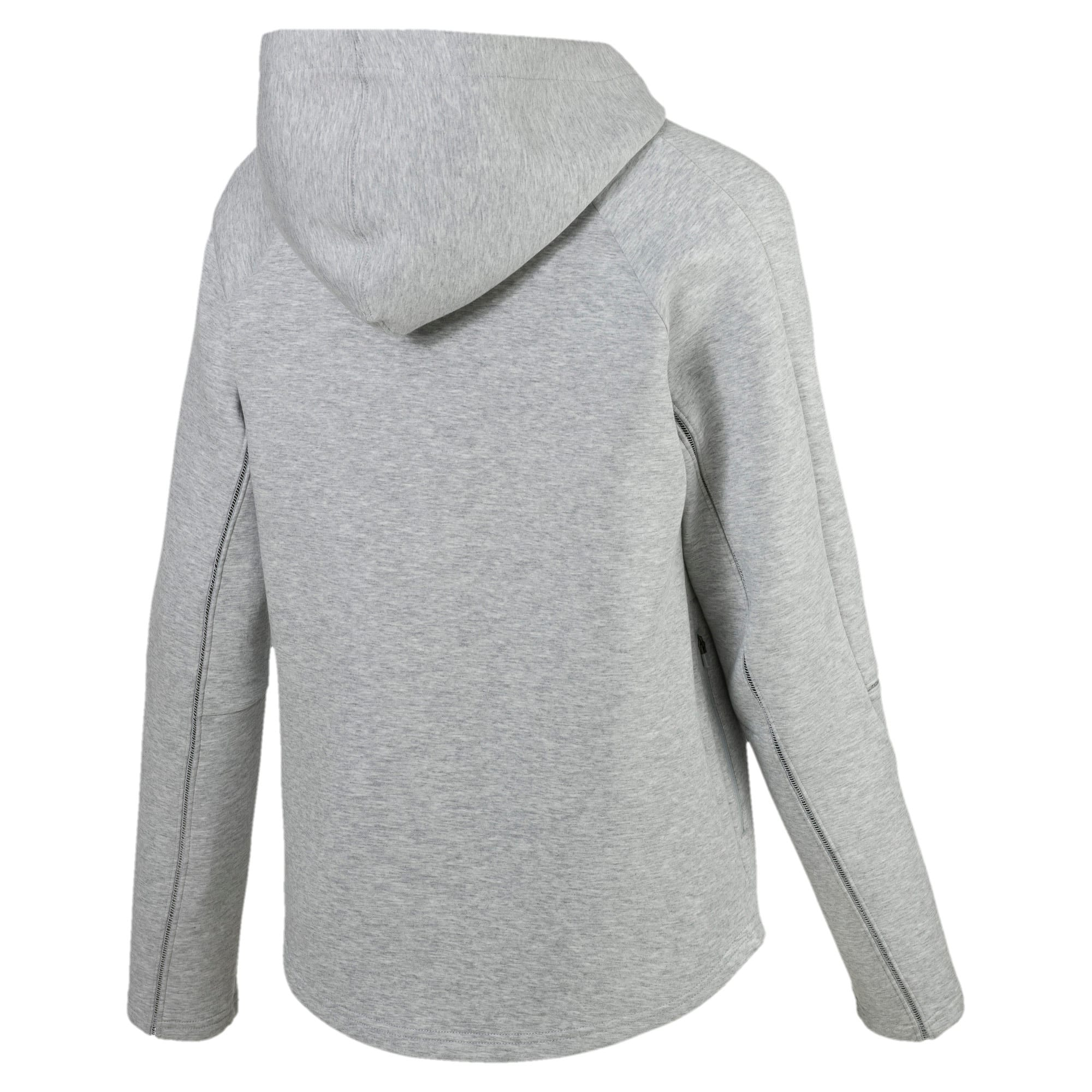 Thumbnail 5 of Evostripe Move Zip-Up Women's Hoodie, Light Gray Heather, medium