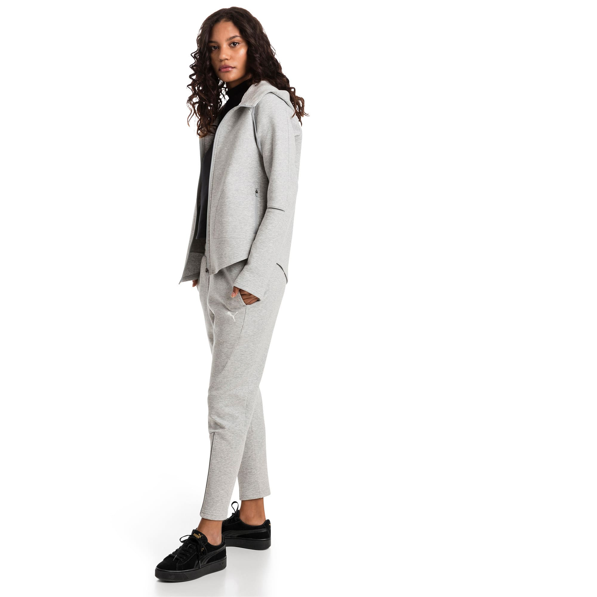 Thumbnail 3 of Evostripe Move Zip-Up Women's Hoodie, Light Gray Heather, medium