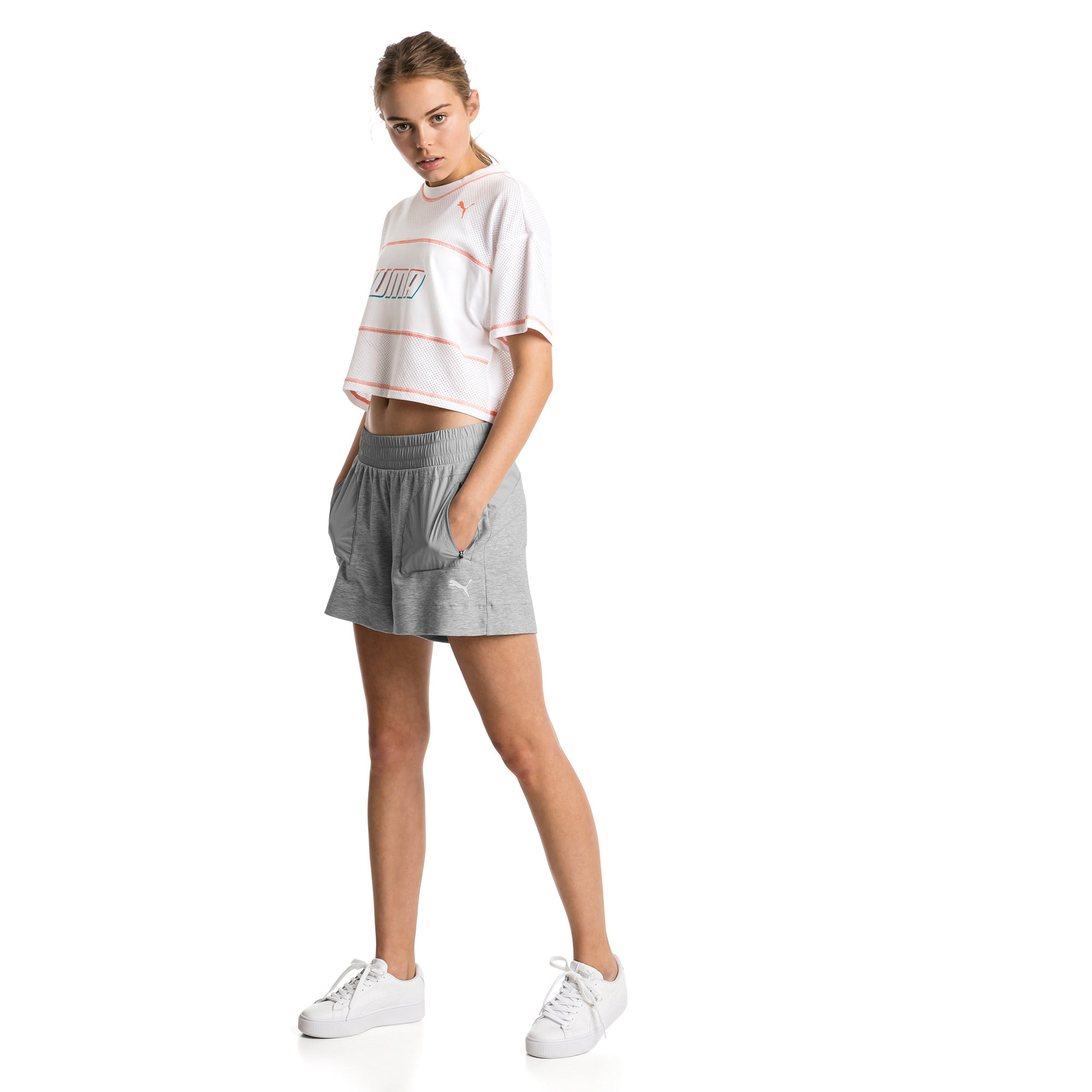 Thumbnail 3 of Evostripe Lite Women's Shorts, Light Gray Heather, medium
