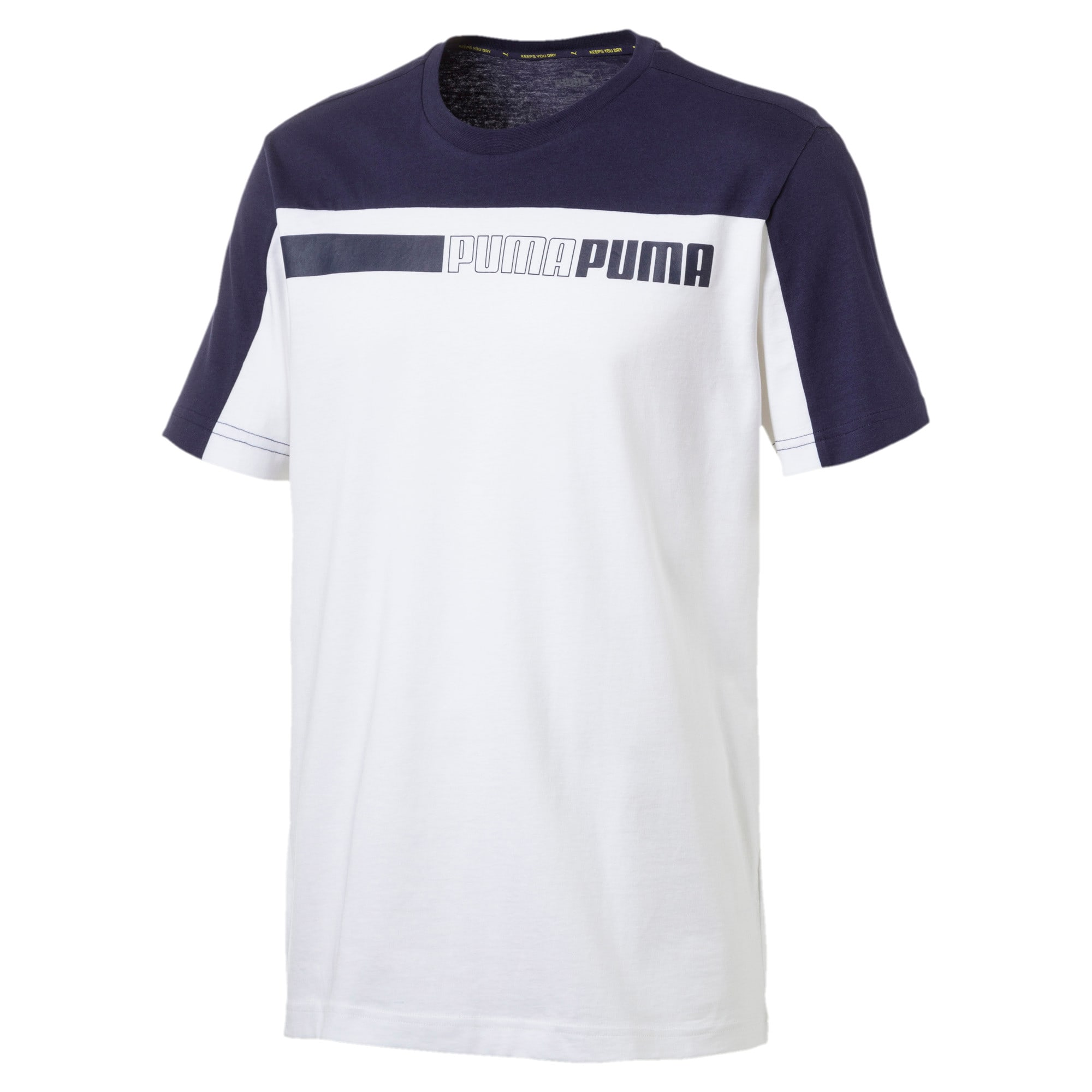 Thumbnail 4 of Modern Sports Advanced Men's Tee, Puma White-Peacoat, medium