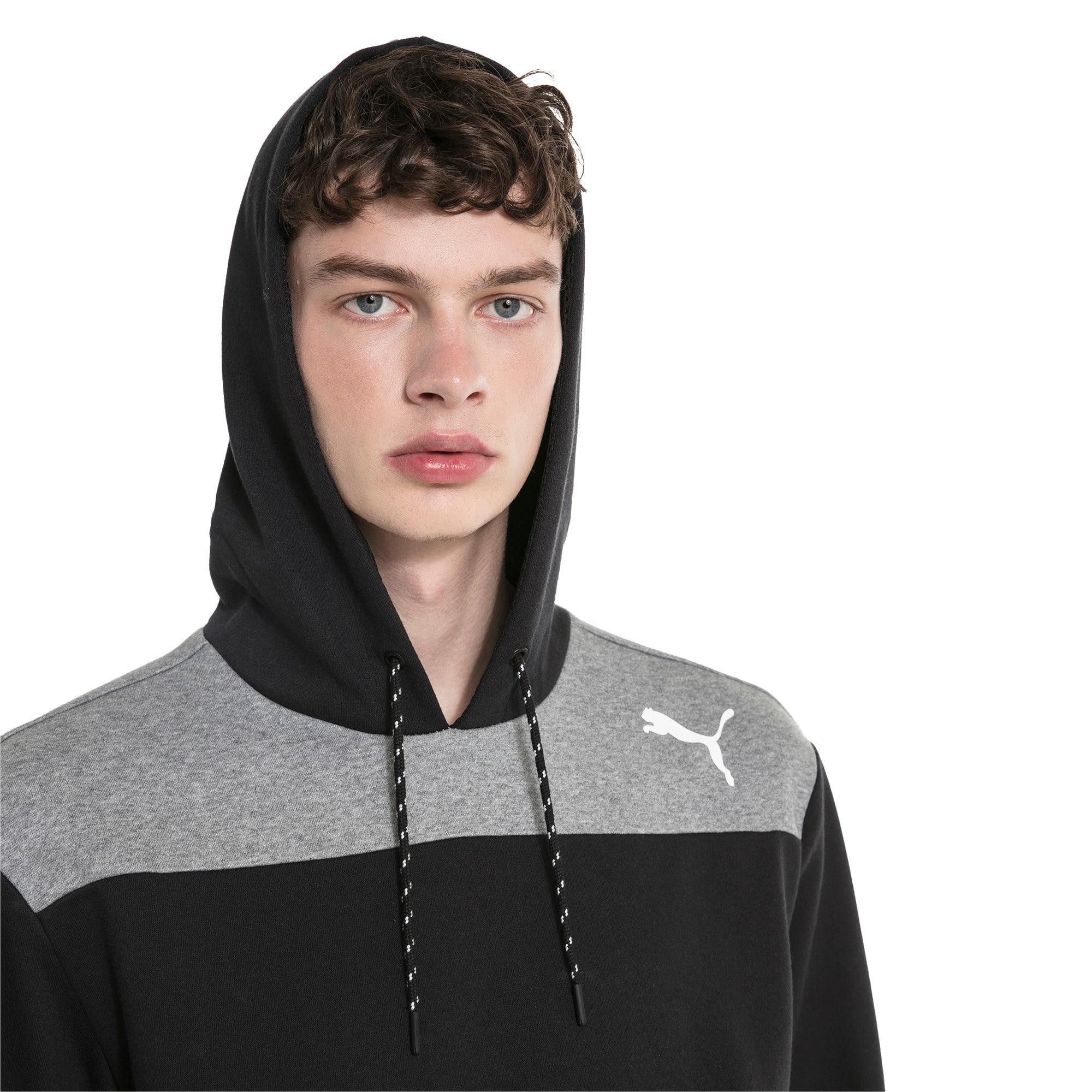 Thumbnail 4 of Modern Sports Men's Fleece Hoodie, Puma Black, medium