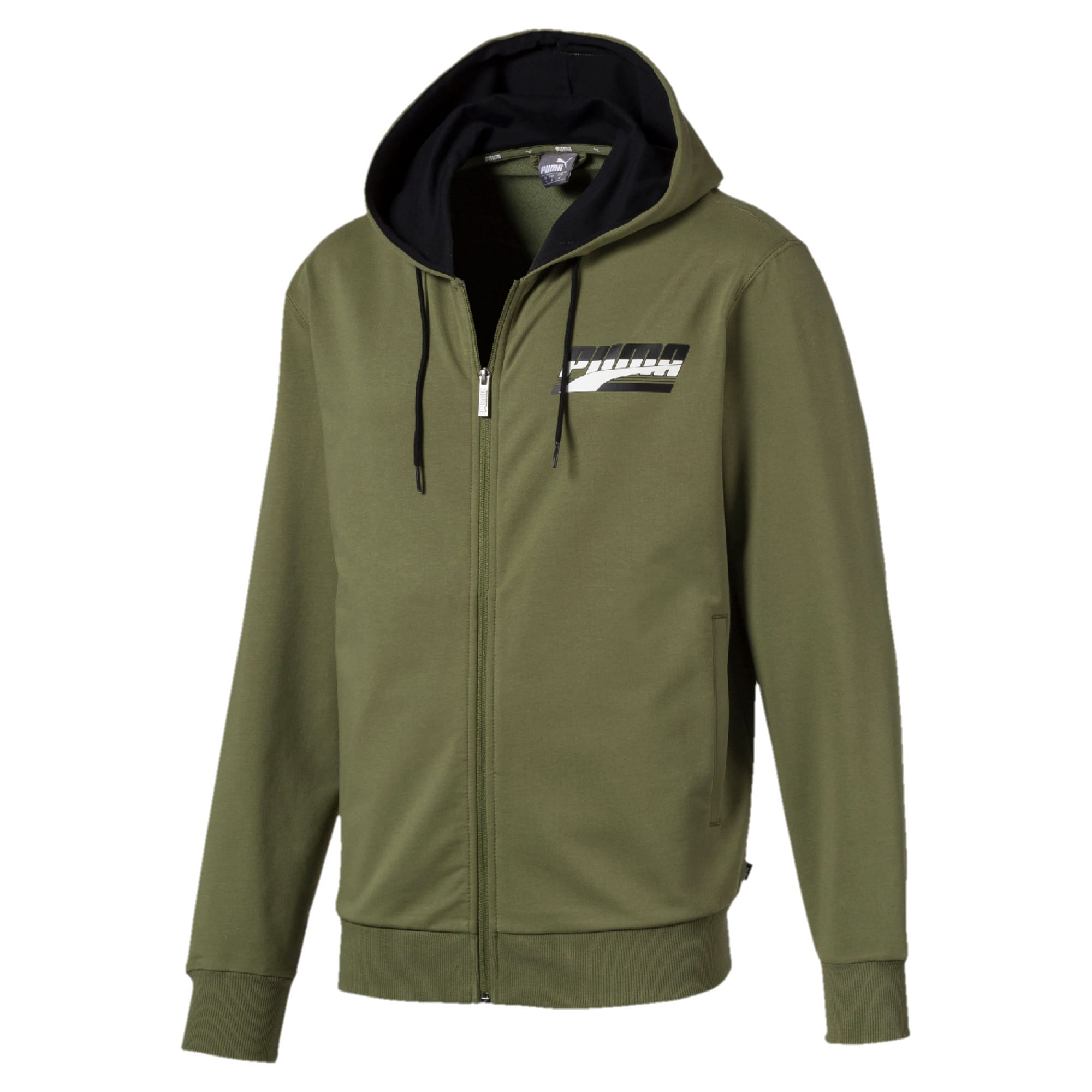 Thumbnail 1 of Rebel Men's Hooded Jacket, Olivine, medium