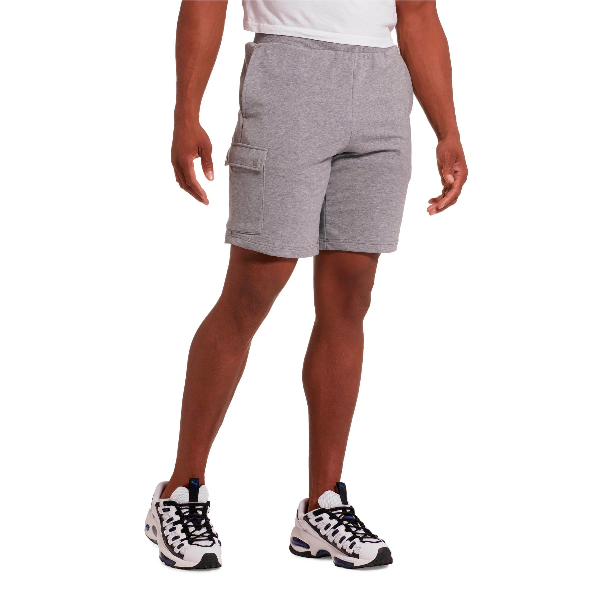 "Thumbnail 2 of Rebel Men's 9"" Shorts, Medium Gray Heather, medium"