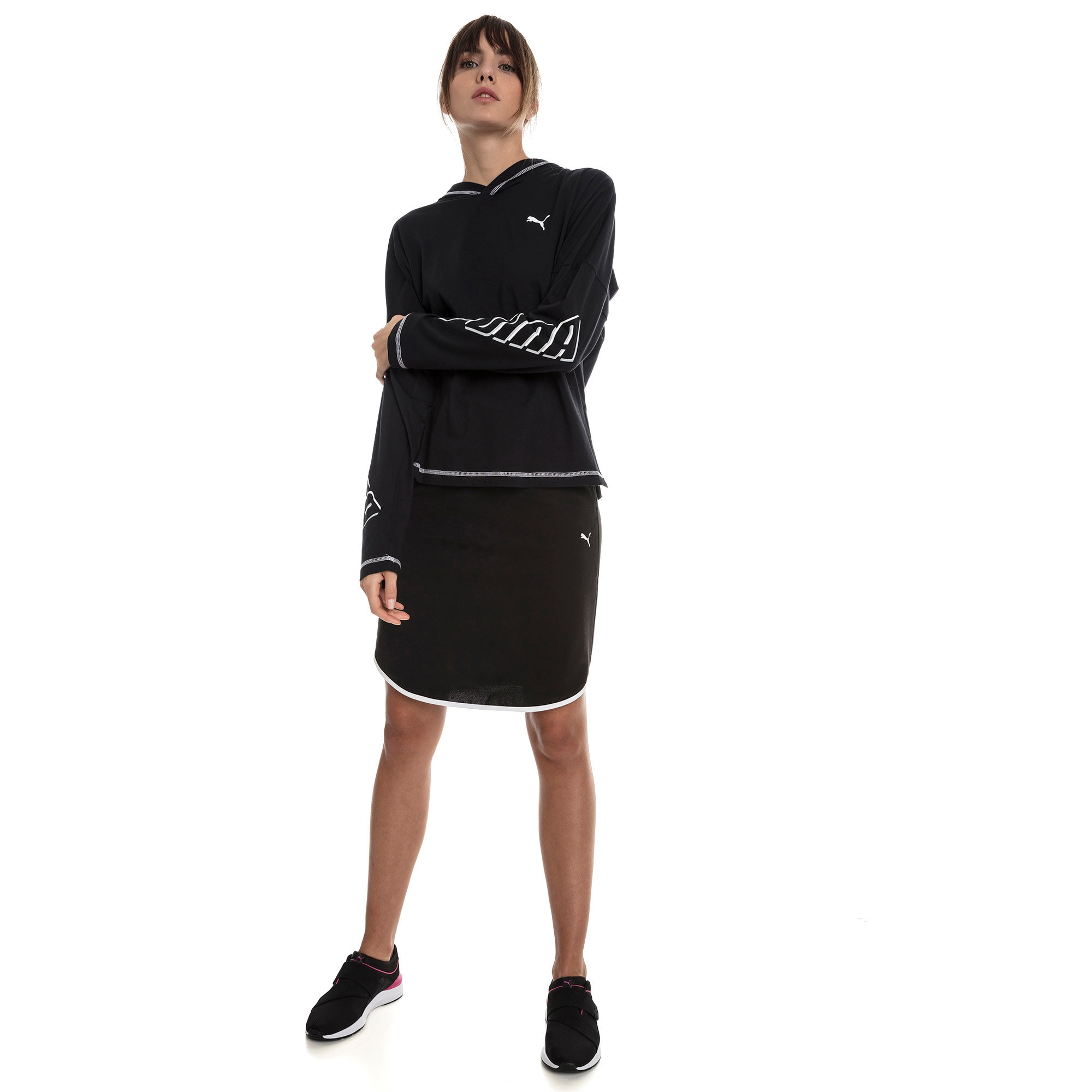 Miniatura 3 de Top liviano Modern Sports para mujer, Cotton Black, mediano