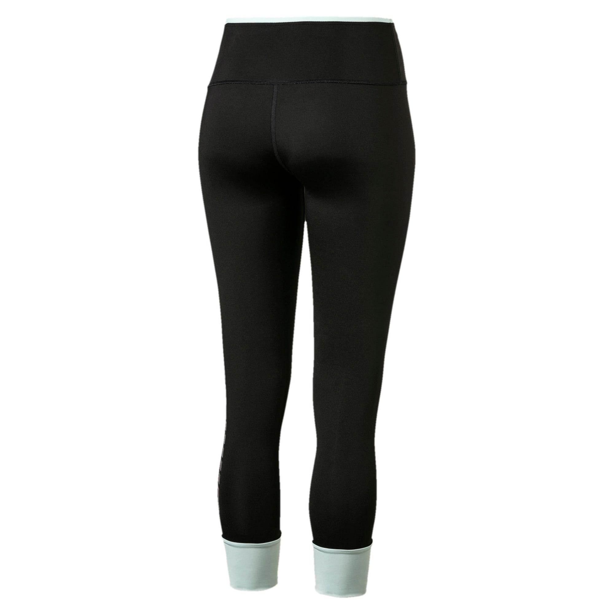 Thumbnail 5 of Modern Sports Fold Up Women's Leggings, Puma Black-fair aqua silver, medium