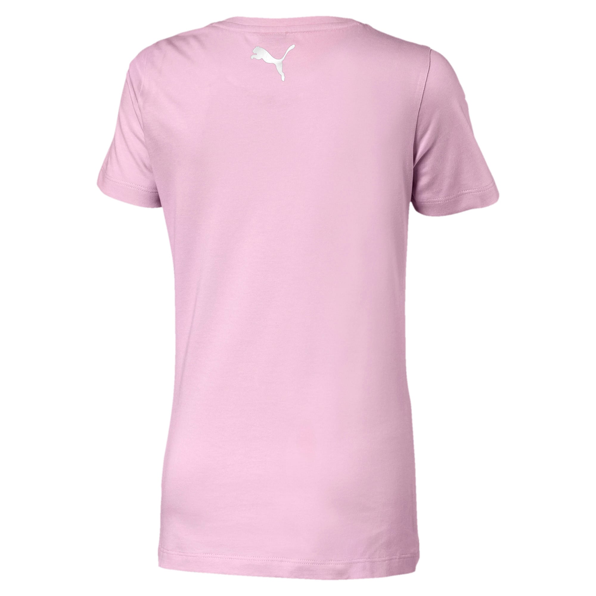Thumbnail 2 of Alpha Logo Girls' Tee, Pale Pink, medium