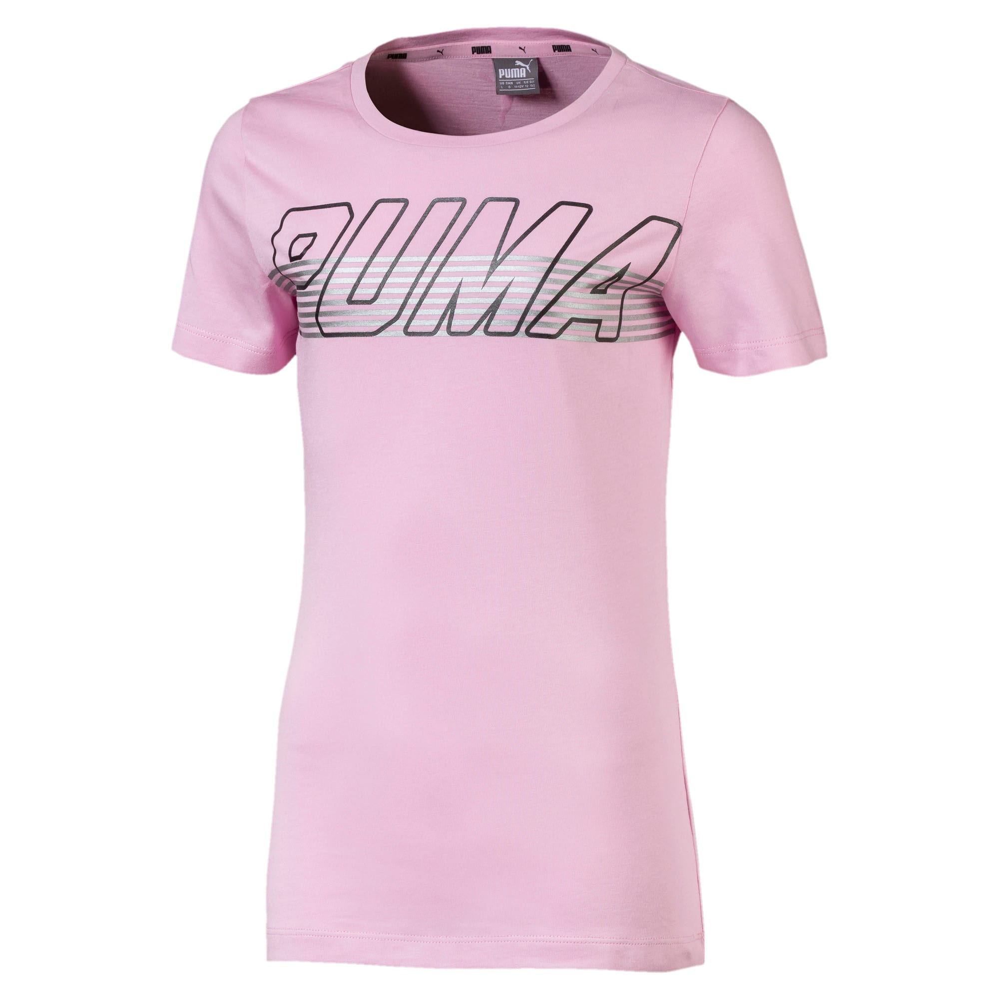 Thumbnail 1 of Alpha Logo Girls' Tee, Pale Pink, medium