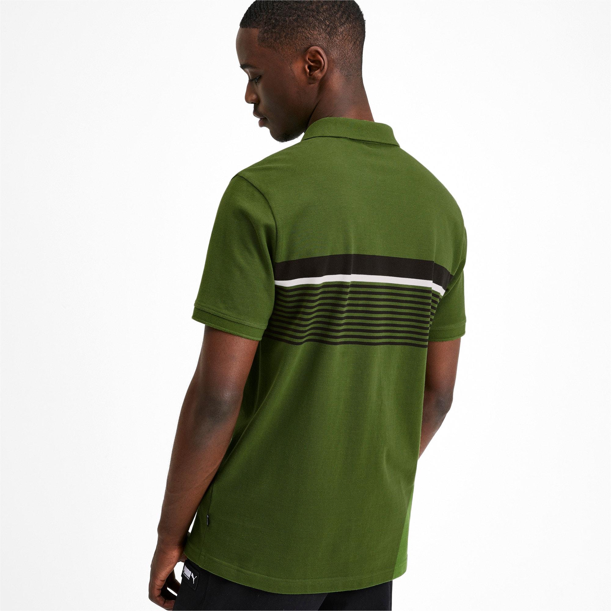 Thumbnail 3 of ESS+ Striped Men's Polo, Garden Green, medium