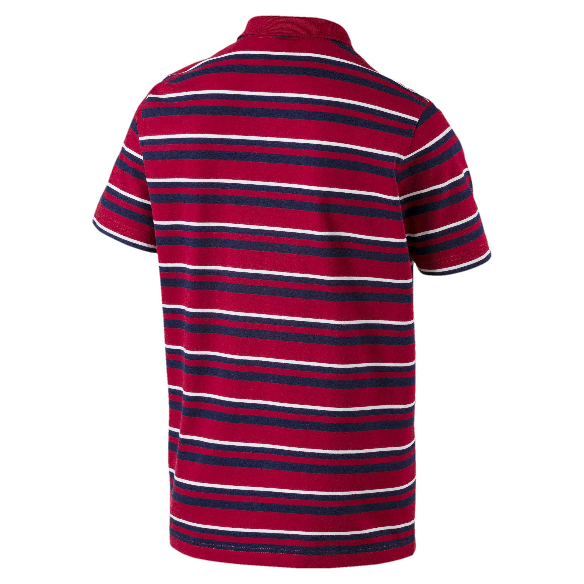 Thumbnail 5 of ESS+ Striped J Men's Polo, Rhubarb, medium