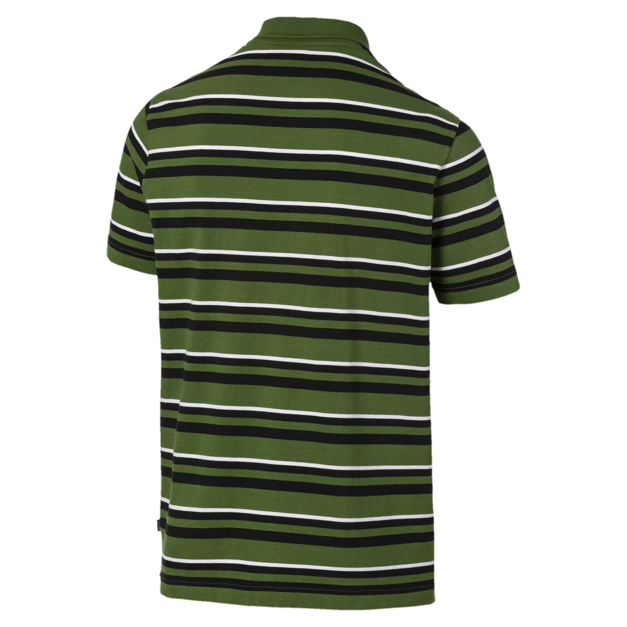 Miniatura 5 de Camiseta tipo polo ESS+ Striped J para hombre, Garden Green, mediano
