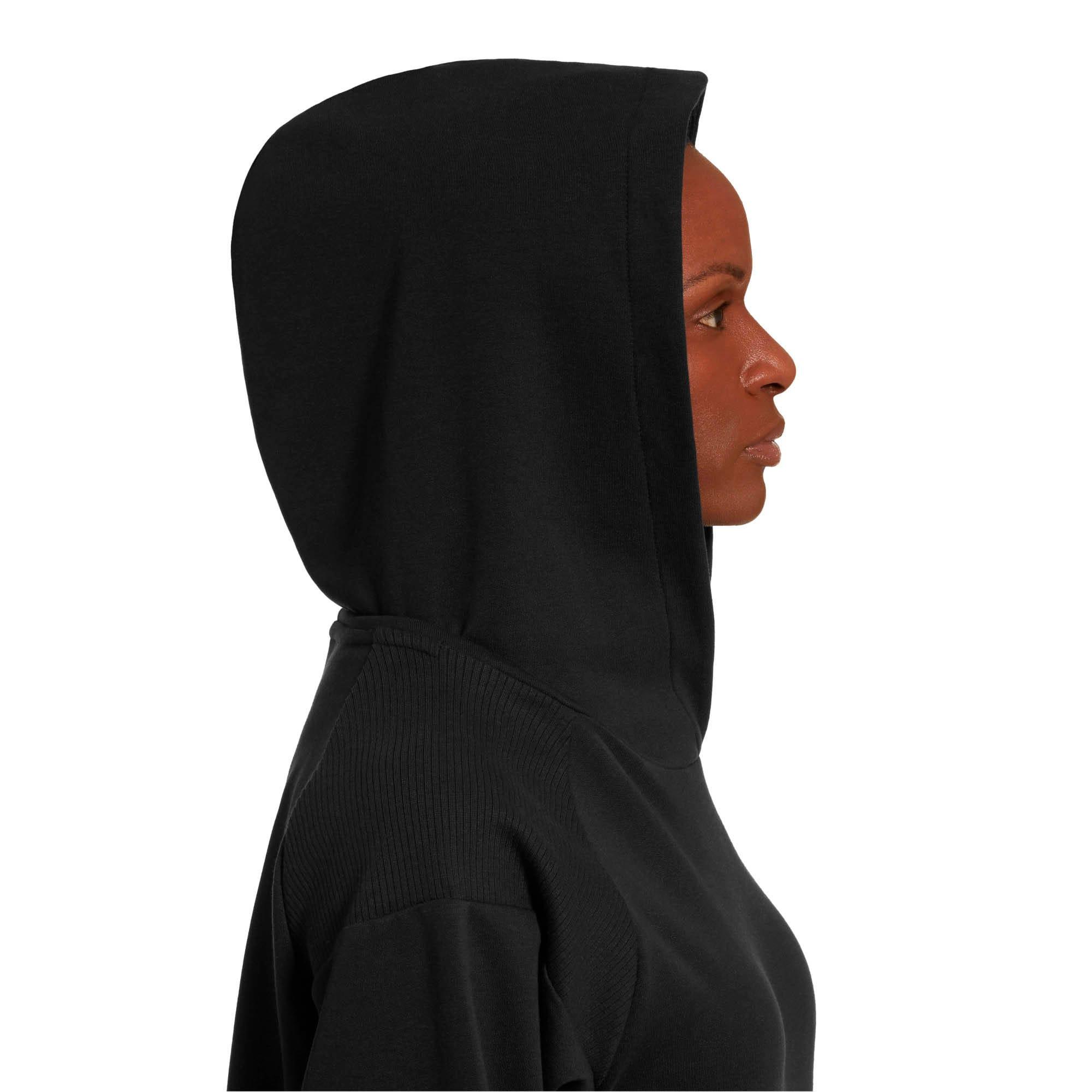 Thumbnail 4 of Fusion Women's Hoodie, Cotton Black, medium