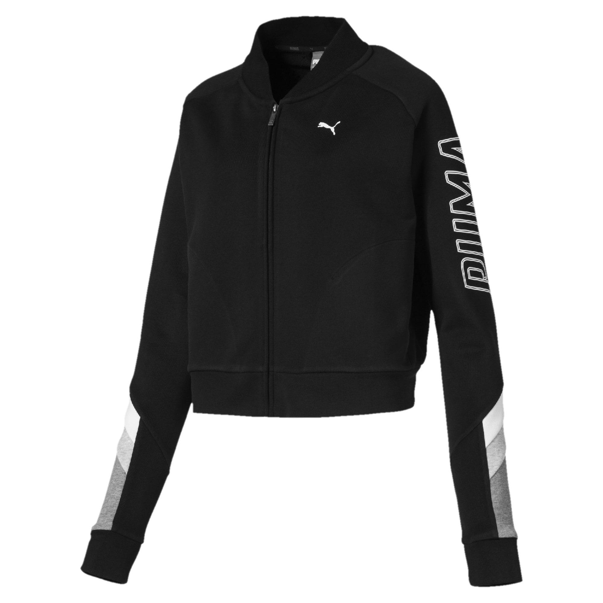 Thumbnail 4 of Athletics Bomber Jacket, Cotton Black, medium