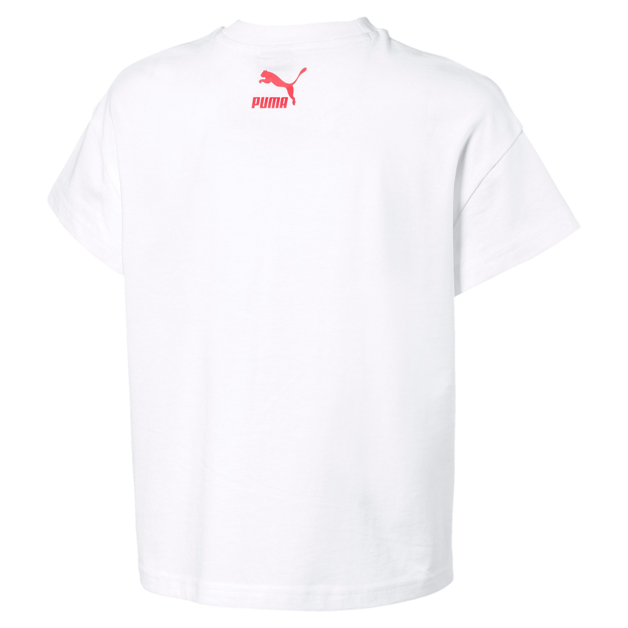 Thumbnail 2 of PUMA XTG Girls' Tee JR, Puma White, medium