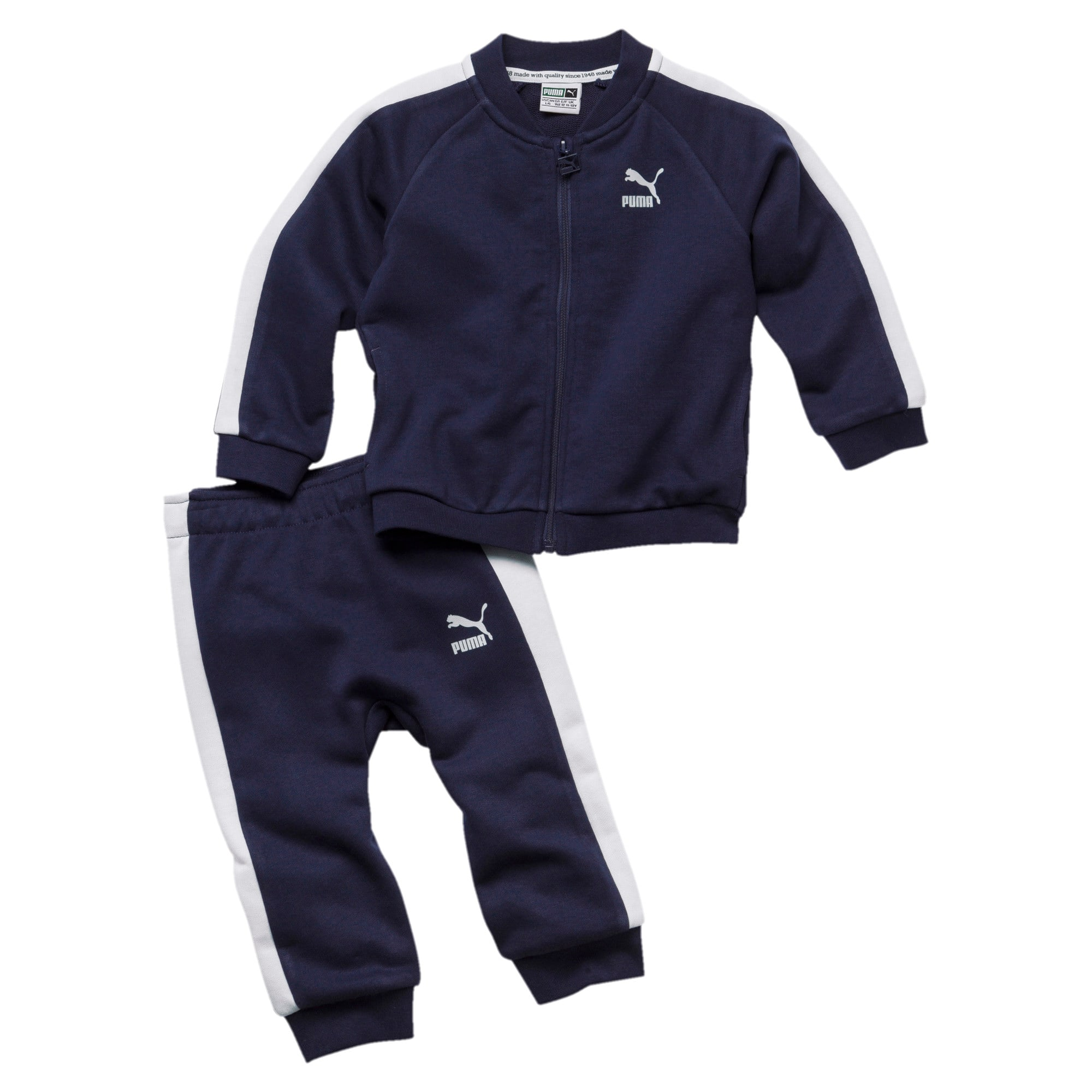 Thumbnail 1 of Minicats T7 Full Zip Babies' Jogger Set, Peacoat, medium