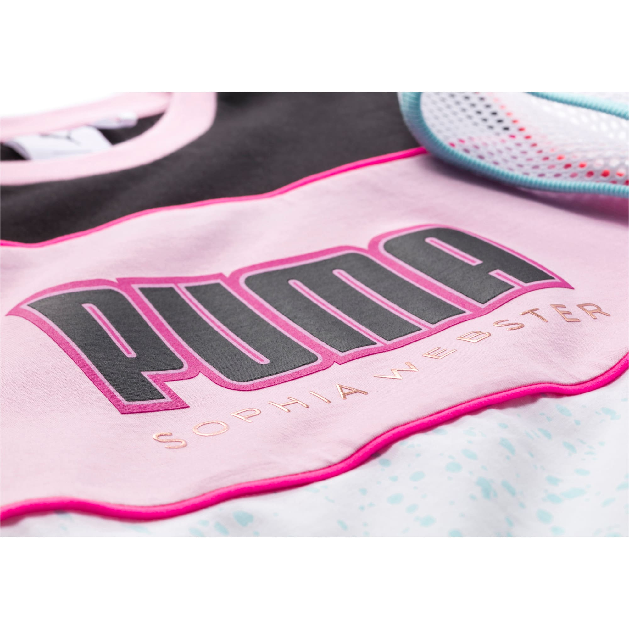 Thumbnail 7 of キッズ ガールズ PUMA x SOPHIA WEBSTER Tシャツ, Puma White, medium-JPN