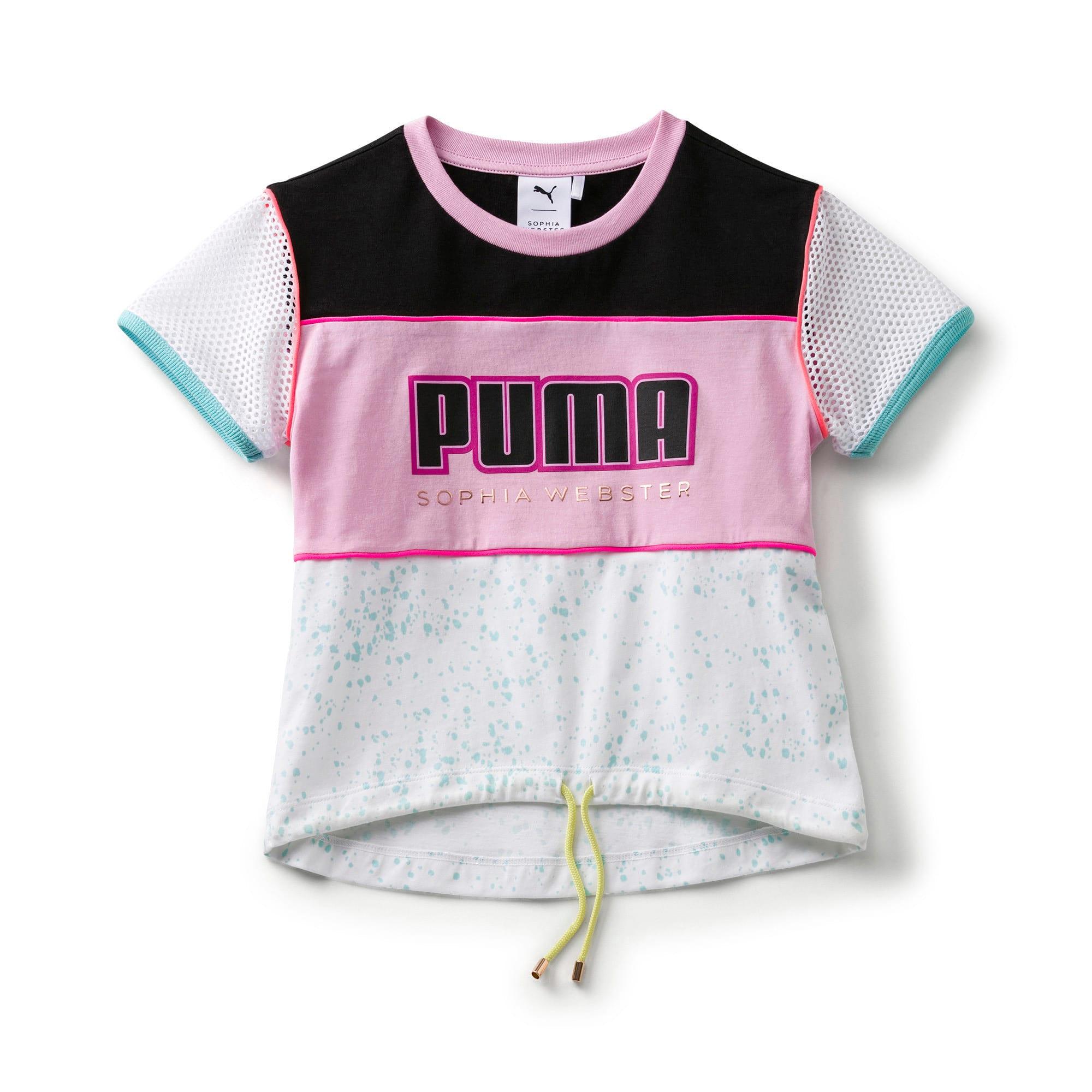 Thumbnail 1 of キッズ ガールズ PUMA x SOPHIA WEBSTER Tシャツ, Puma White, medium-JPN