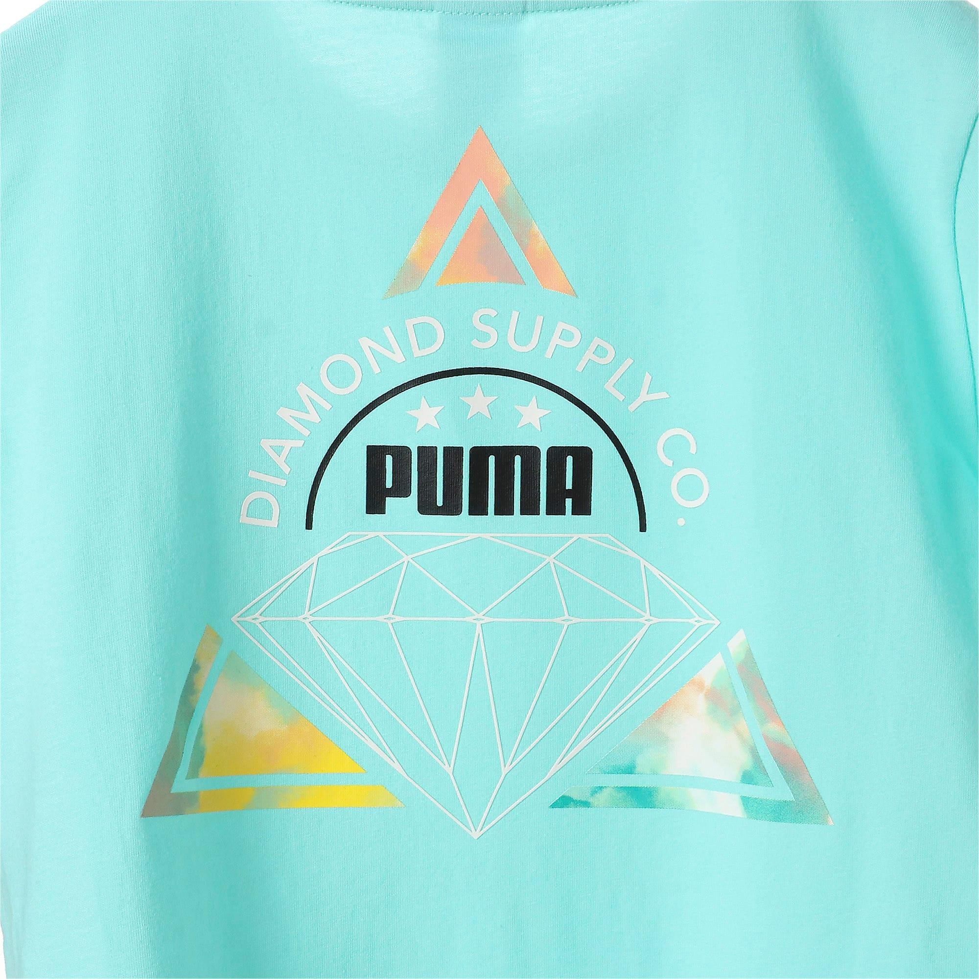 Thumbnail 8 of キッズ PUMA x DIAMOND Tシャツ, ARUBA BLUE, medium-JPN