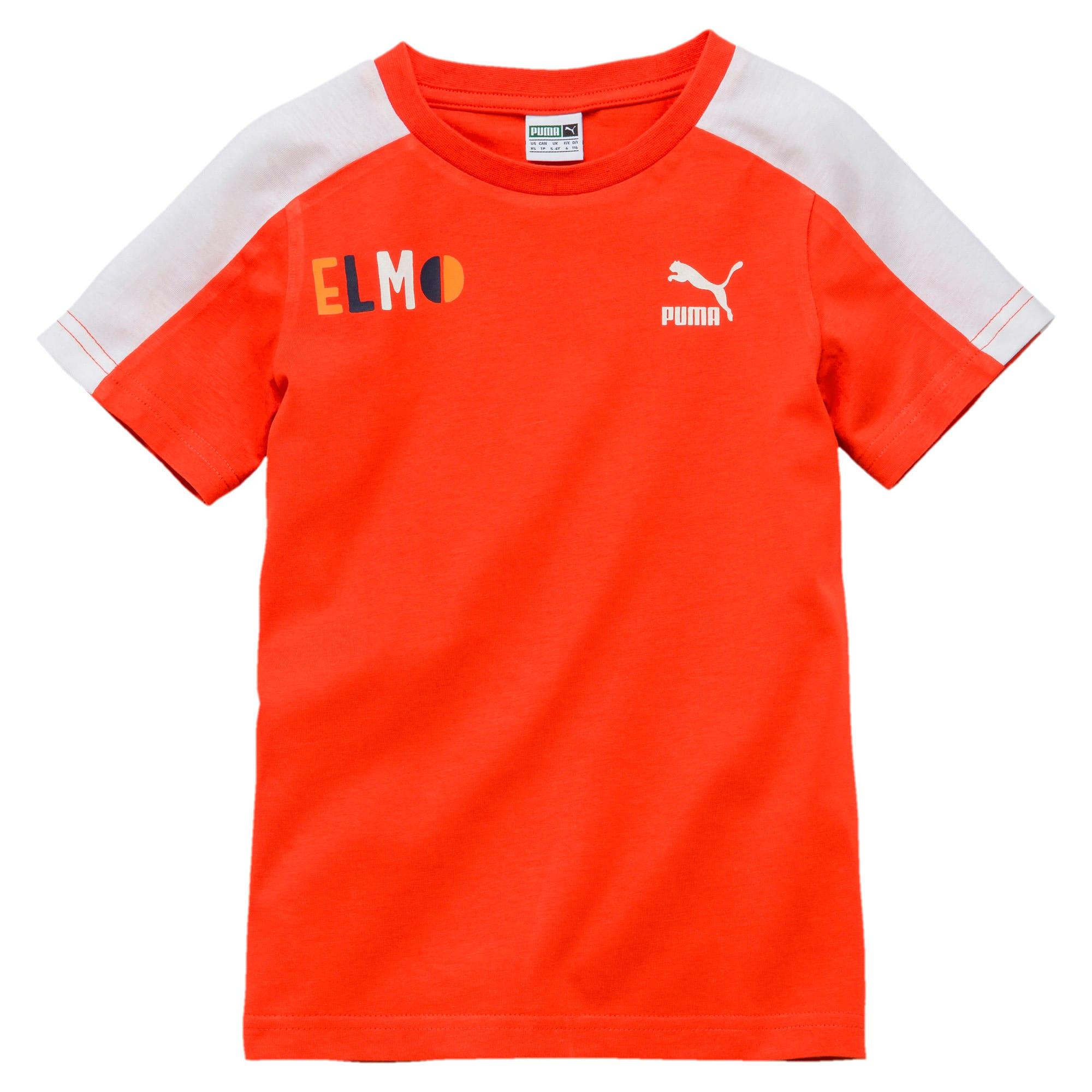 Miniatura 1 de Camiseta PUMA x SESAME STREET para niño, Cherry Tomato-tigerlily, mediano