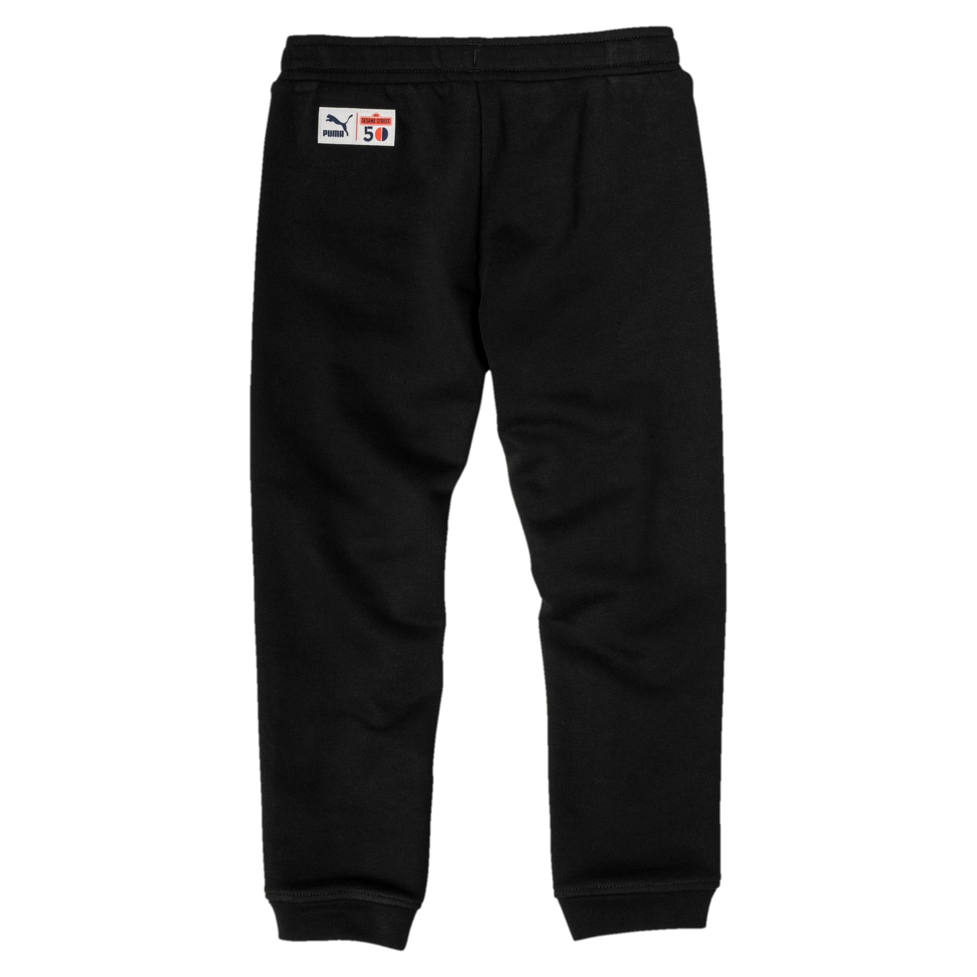 Thumbnail 2 of PUMA x SESAME STREET Boy's Sweatpants, Cotton Black, medium