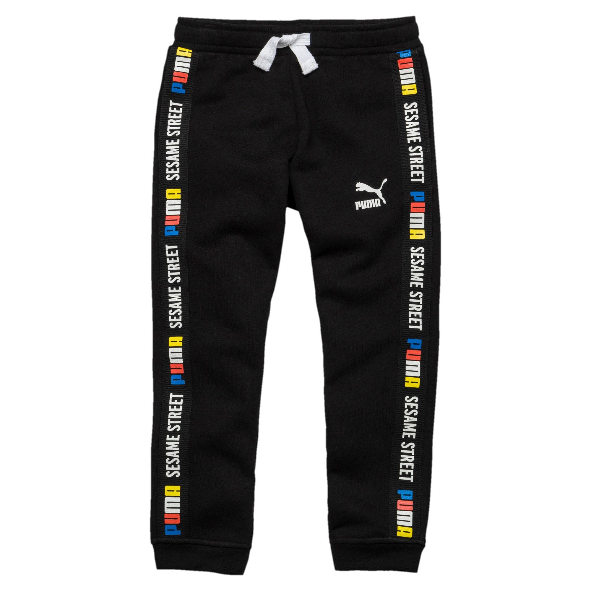 Thumbnail 1 of PUMA x SESAME STREET Boy's Sweatpants, Cotton Black, medium