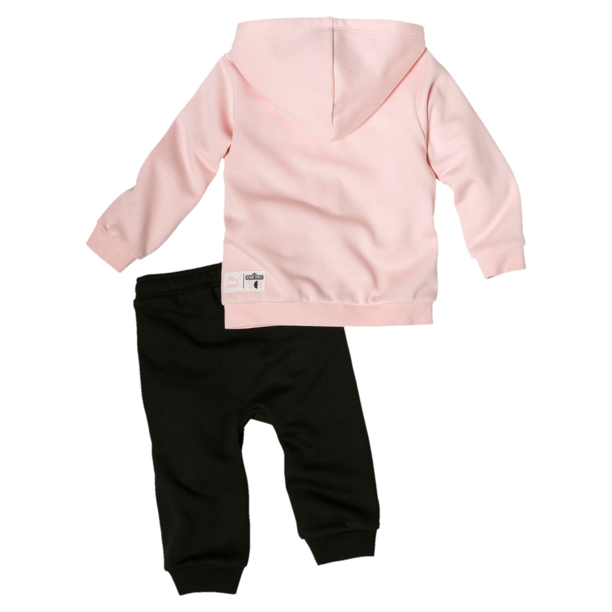 Thumbnail 2 of Sesame Street Hooded Baby Boys' Track Suit, Veiled Rose, medium