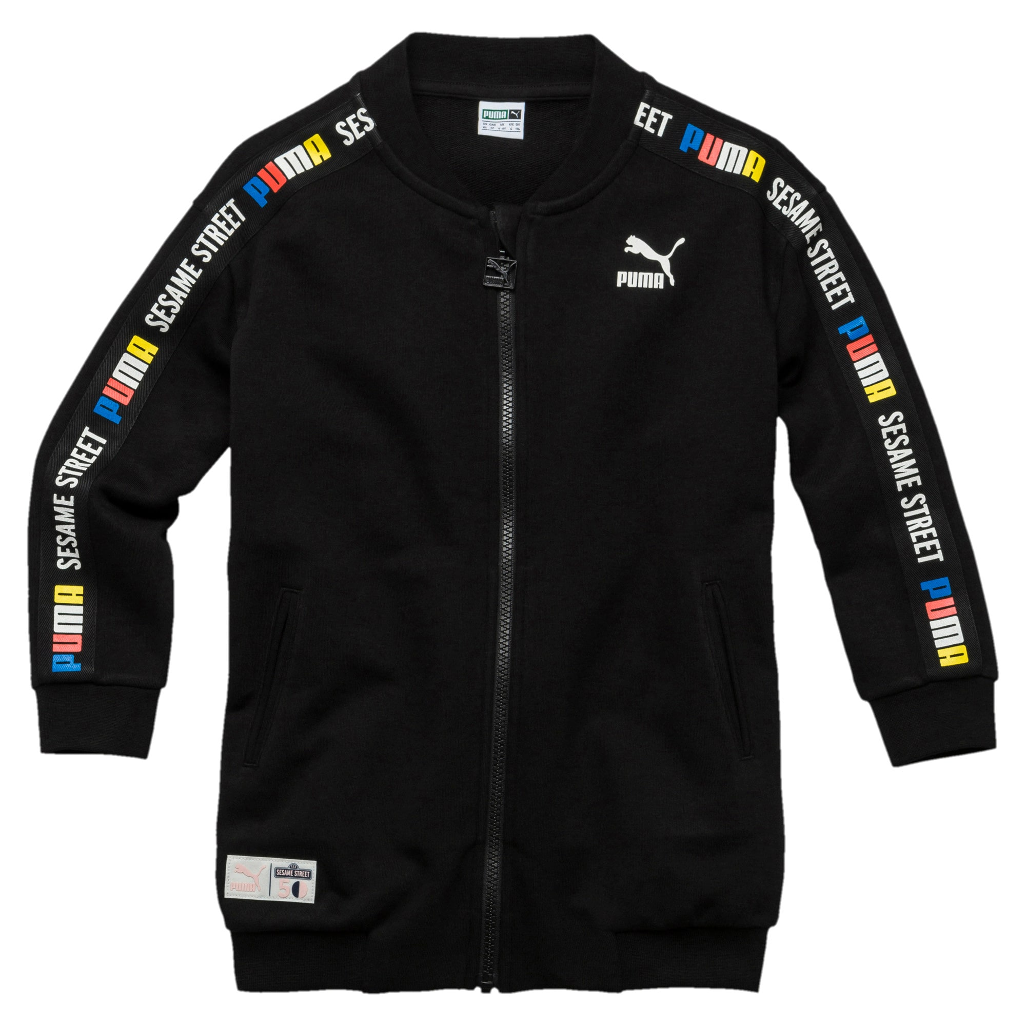 Thumbnail 1 of PUMA x SESAME STREET Girl's Full Zip Jacket, Cotton Black, medium