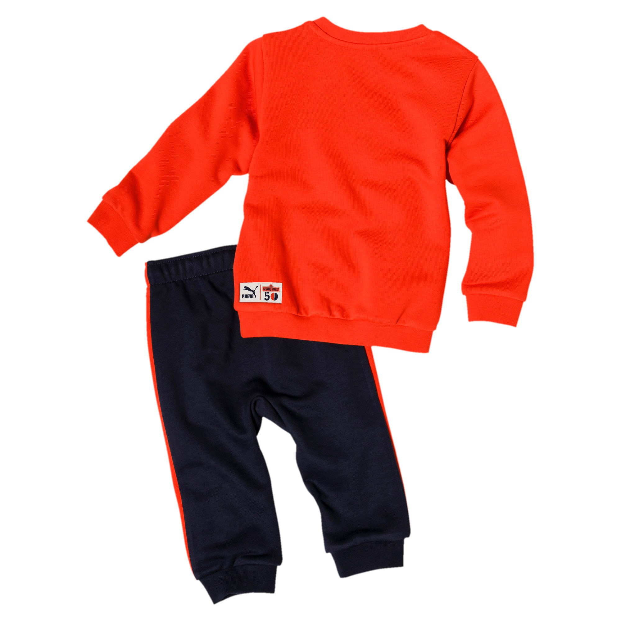 Thumbnail 2 of PUMA x SESAME STREET Infant + Toddler Crewneck Jogger Set, Cherry Tomato, medium