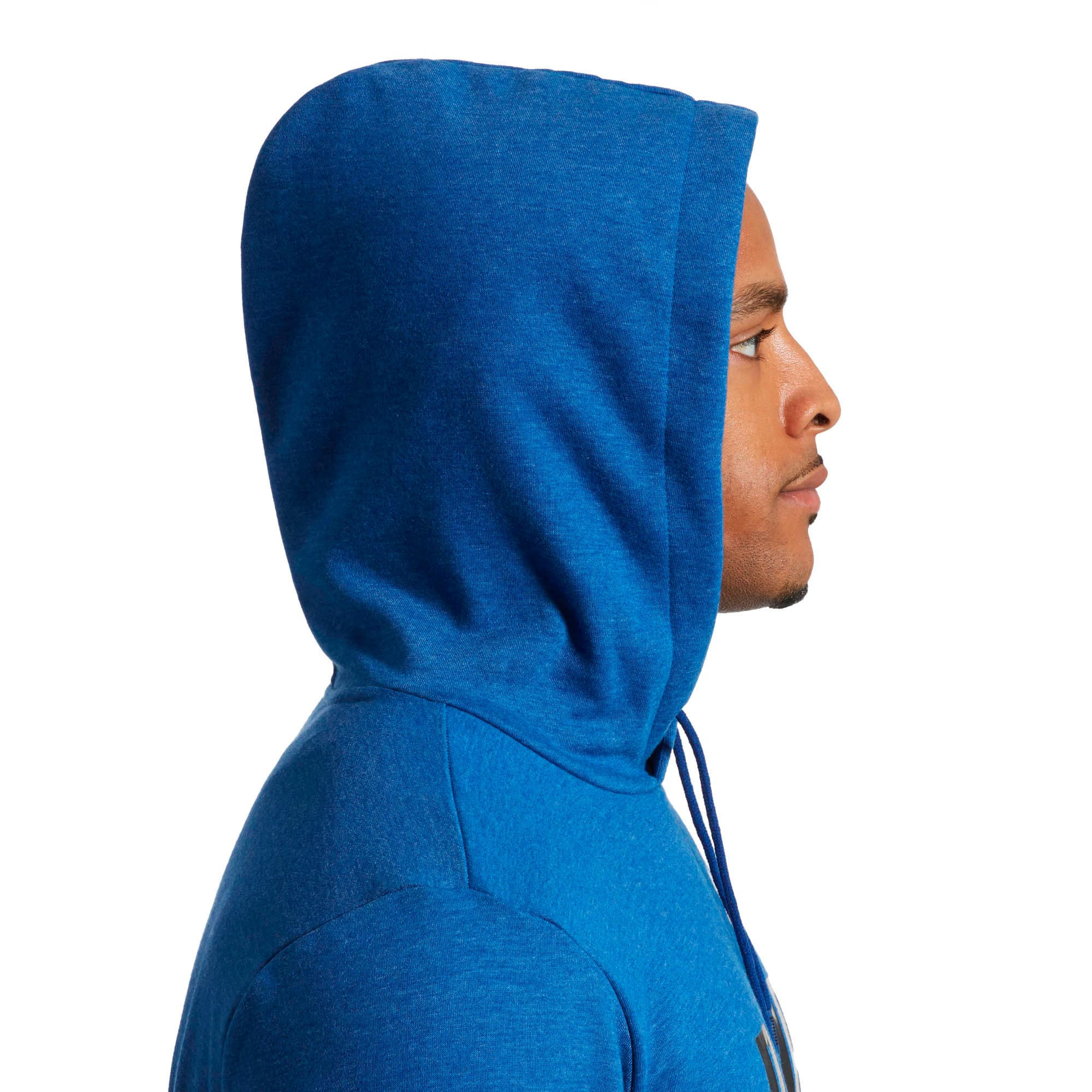 Thumbnail 3 of Essential Fleece Hoodie, Sodalite Blue Heather, medium