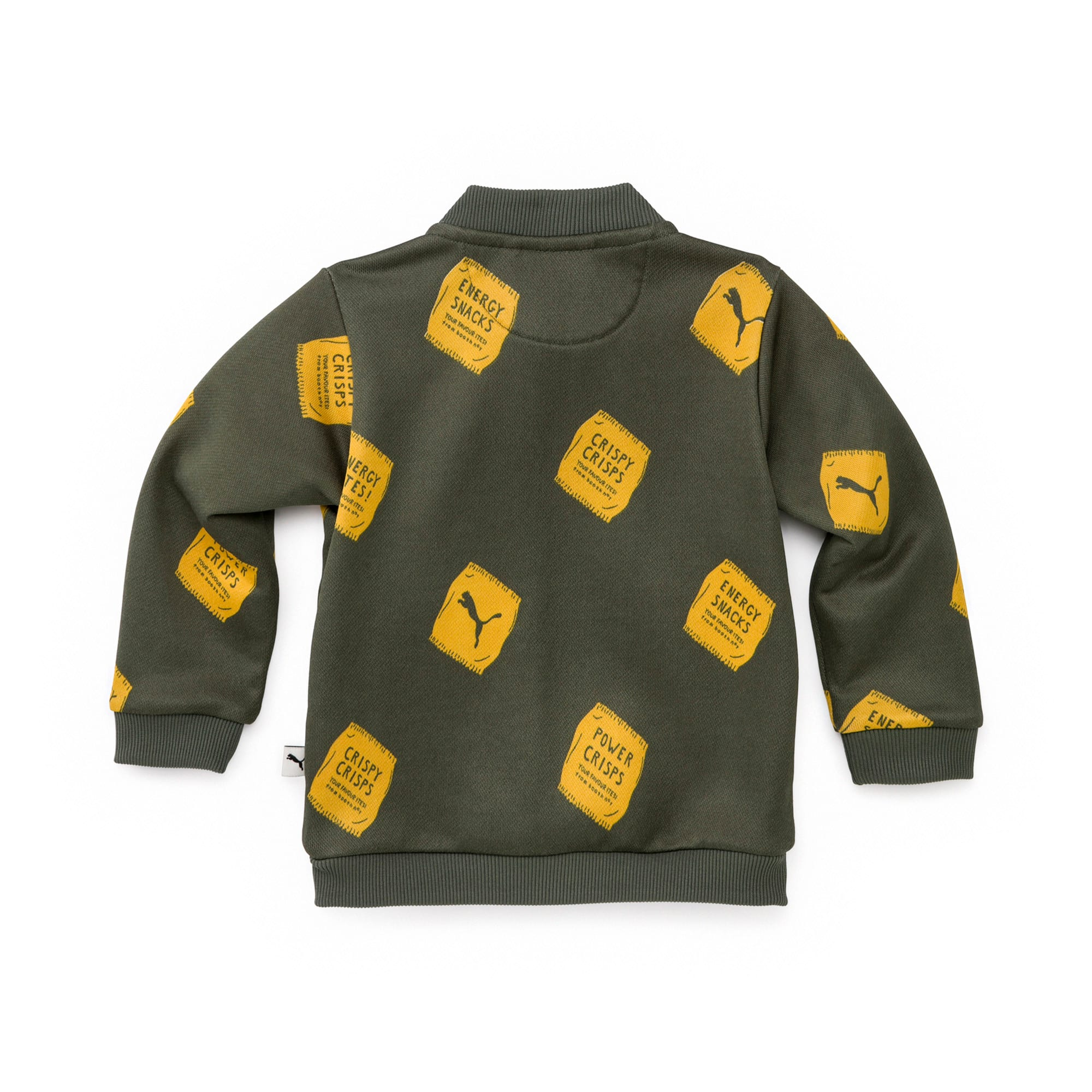 Thumbnail 2 of PUMA x TINYCOTTONS Classic Full Zip Jacket JR, Thyme, medium