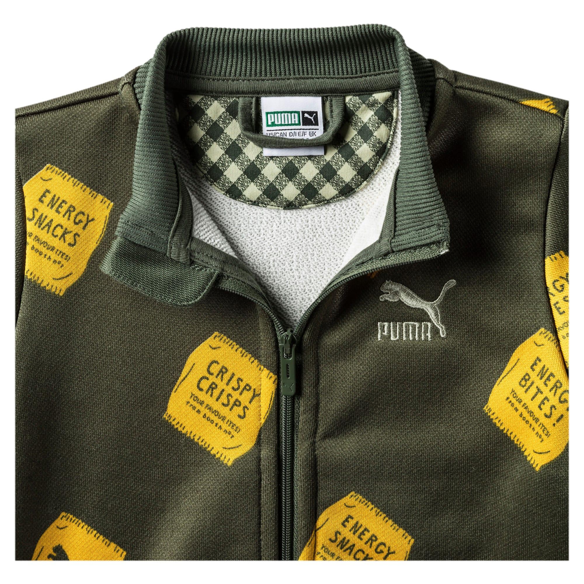 Thumbnail 3 of PUMA x TINYCOTTONS Classic Full Zip Jacket JR, Thyme, medium
