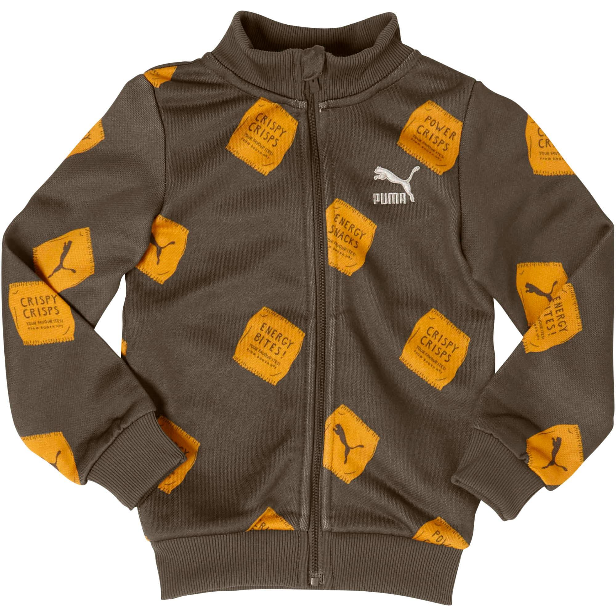 Thumbnail 1 of PUMA x TINYCOTTONS Classic Full Zip Jacket JR, Thyme, medium