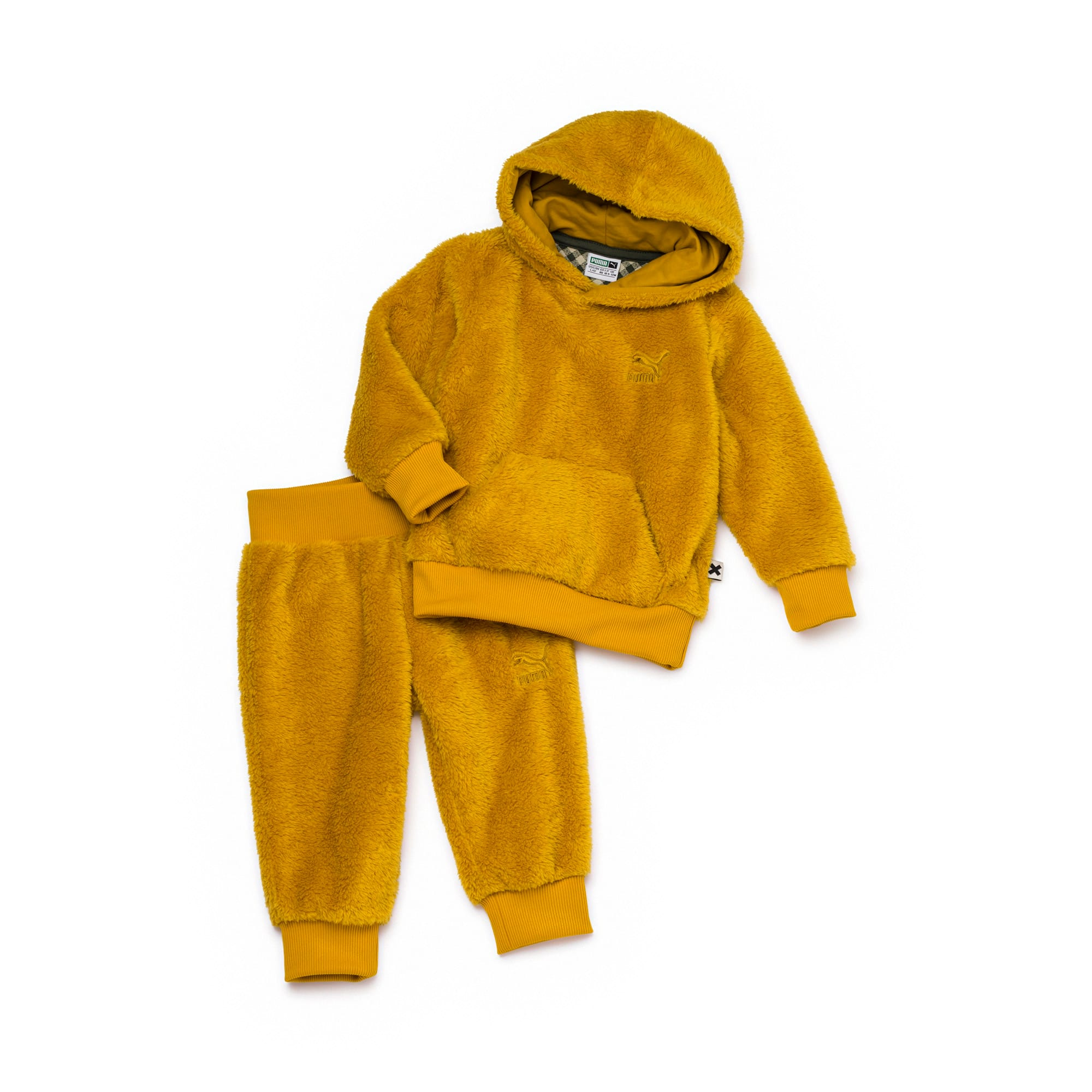 PUMA x TINYCOTTONS Classic Sherpa Toddler Set, Arrowwood, large