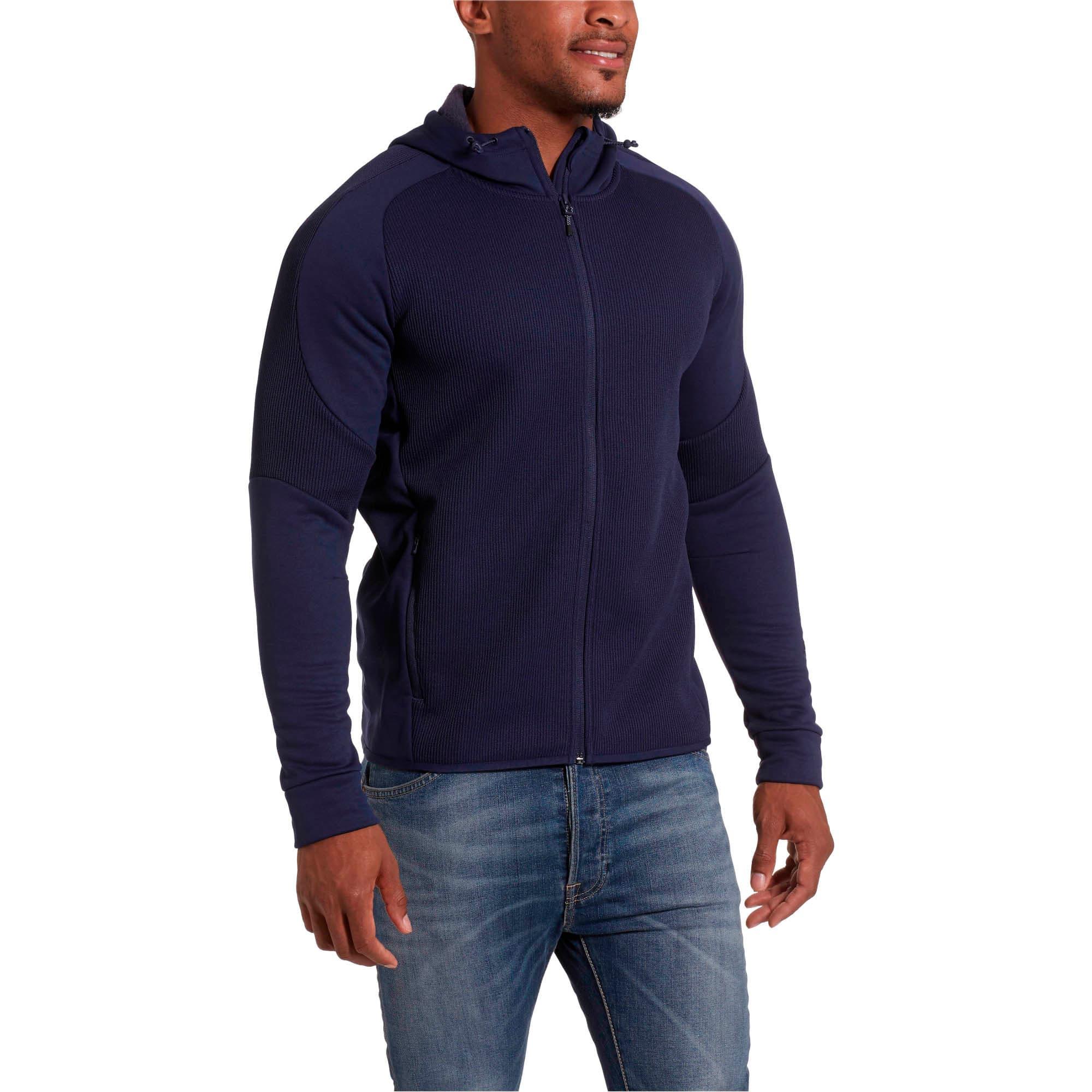 Thumbnail 2 of EVOstripe Hybrid Men's Hooded Jacket, Peacoat, medium