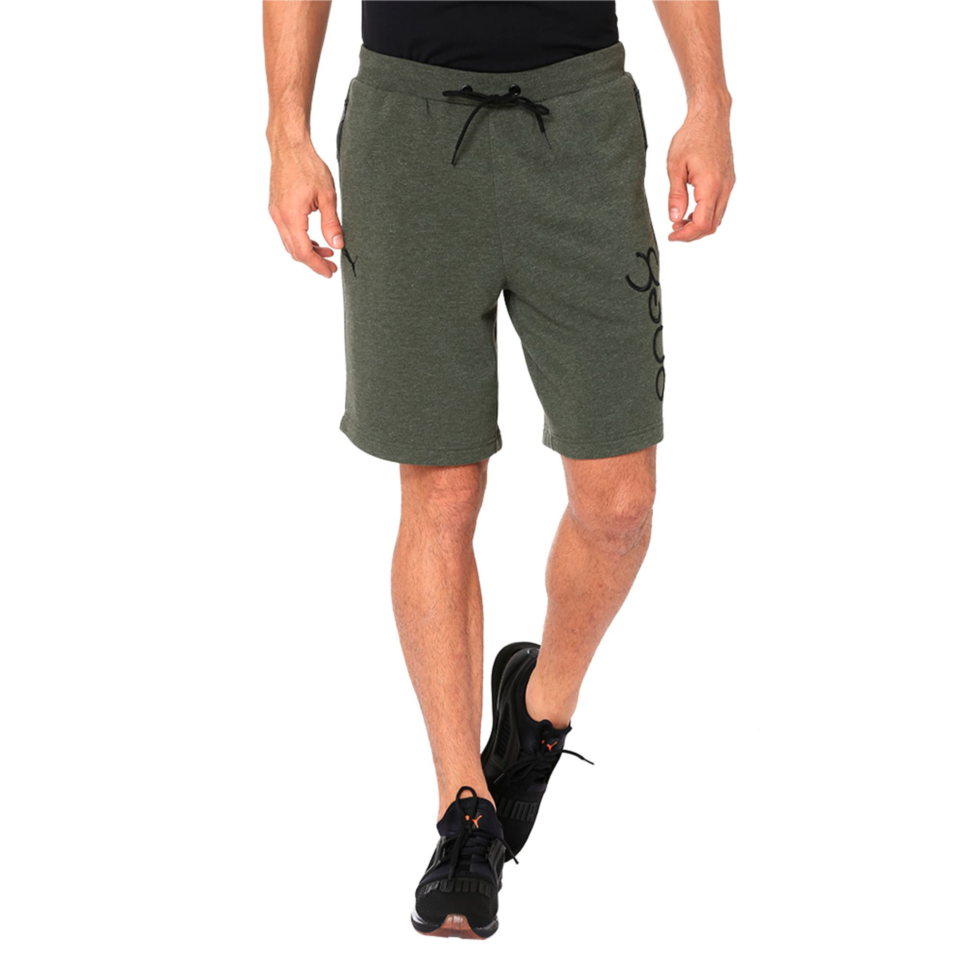 Thumbnail 4 of One8 VK Men's Sweat Shorts, Forest Night Heather, medium-IND