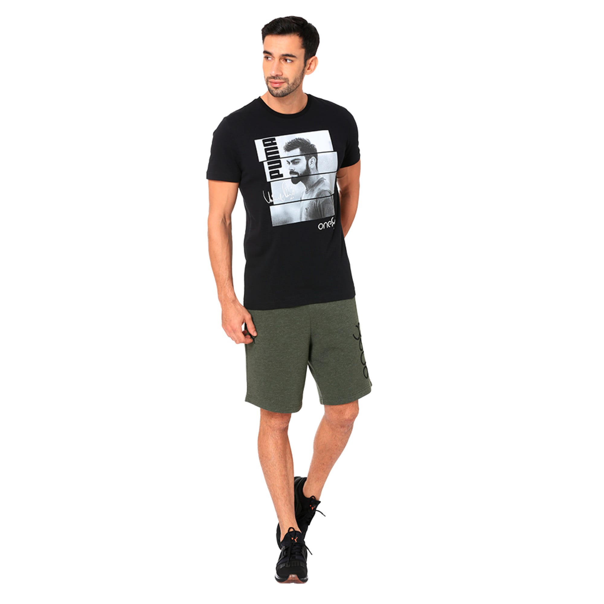 Thumbnail 1 of One8 VK Men's Sweat Shorts, Forest Night Heather, medium-IND