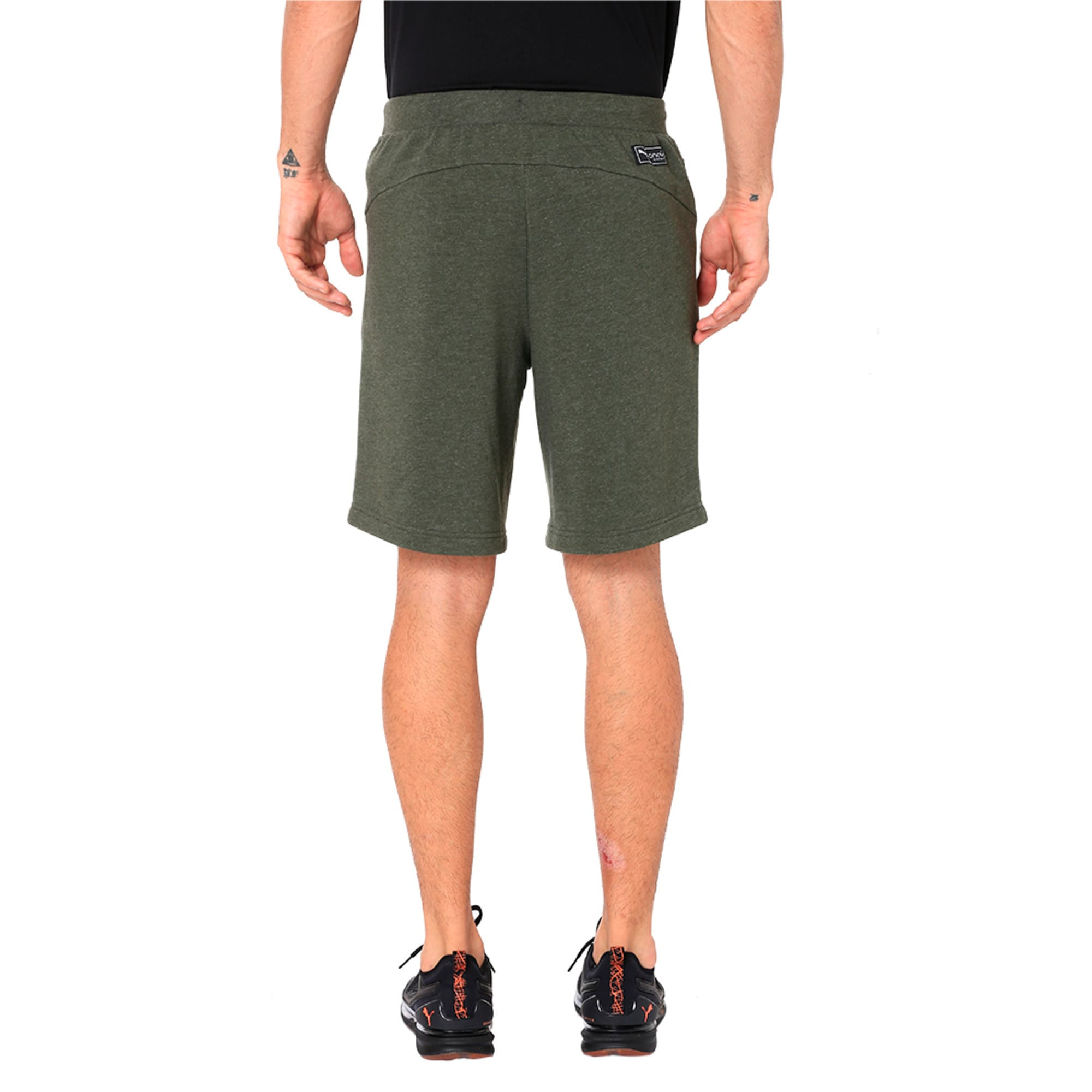 Thumbnail 2 of One8 VK Men's Sweat Shorts, Forest Night Heather, medium-IND