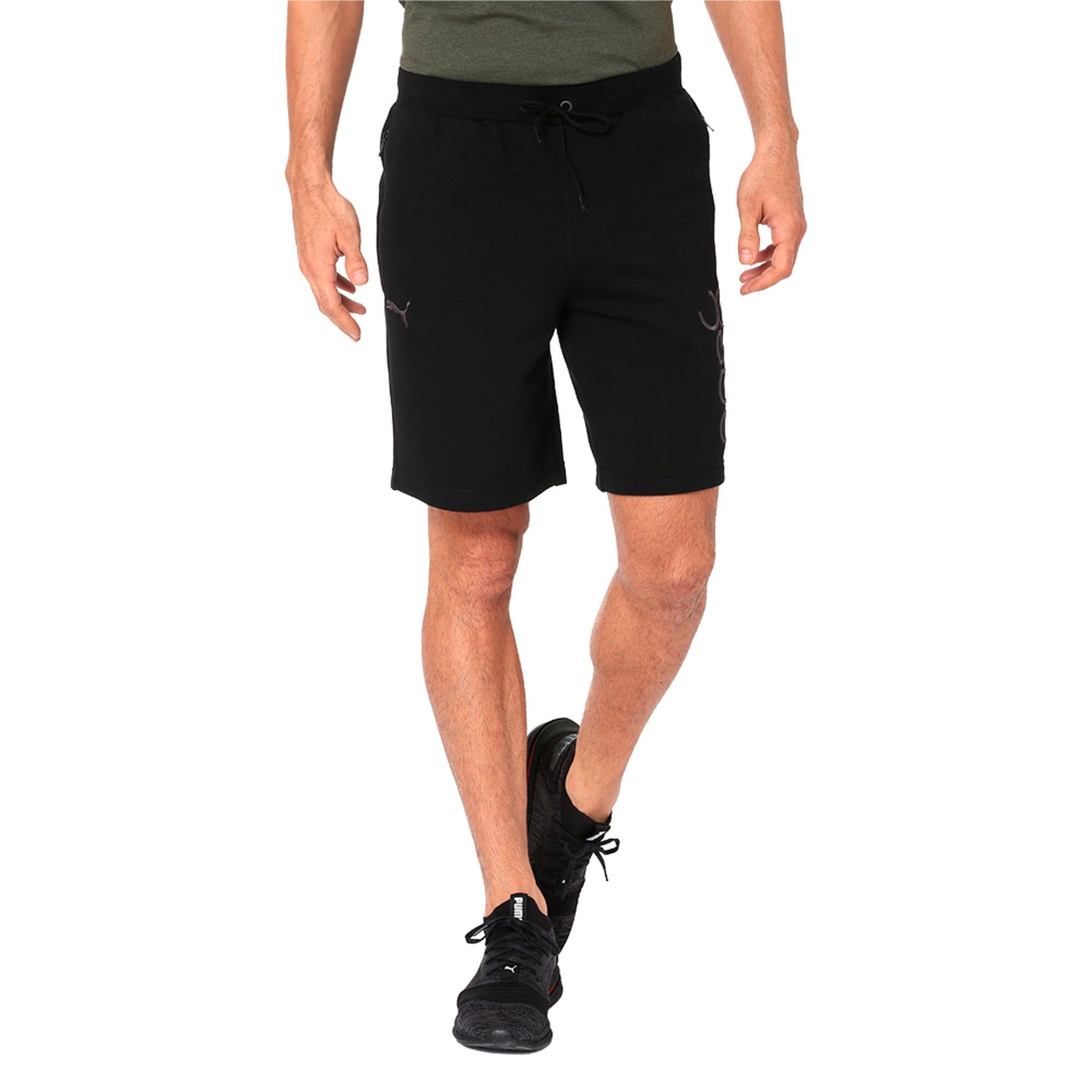 Thumbnail 4 of One8 VK Men's Sweat Shorts, Puma Black, medium-IND
