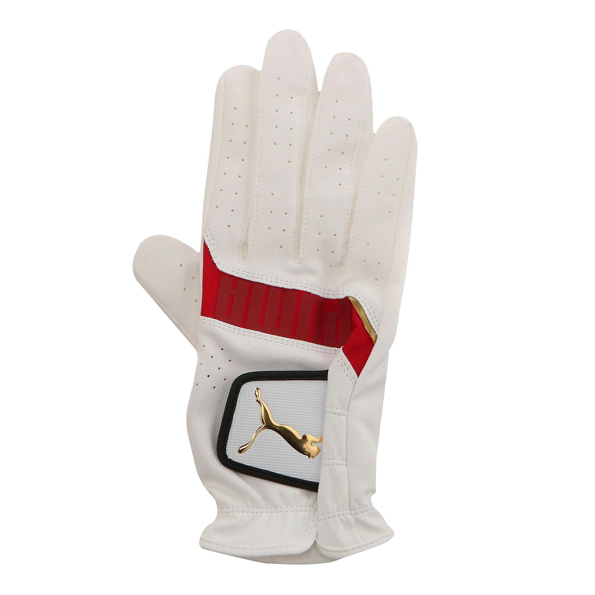 Thumbnail 1 of ゴルフ 3D パフォーマンス グローブ 右手用, White / High Risk Red, medium-JPN