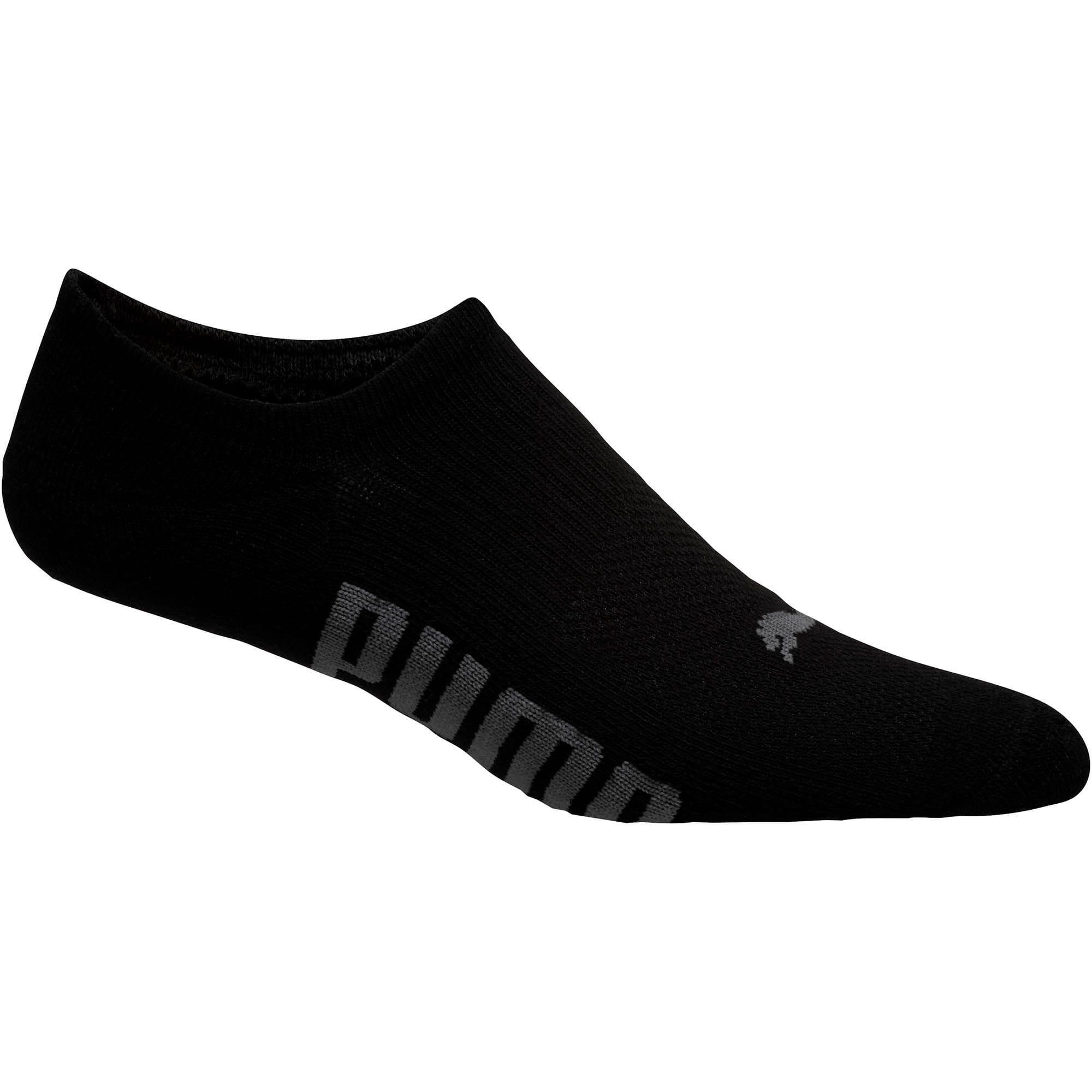 Thumbnail 3 of Men's Invisible No Show Socks [3 Pack], black, medium