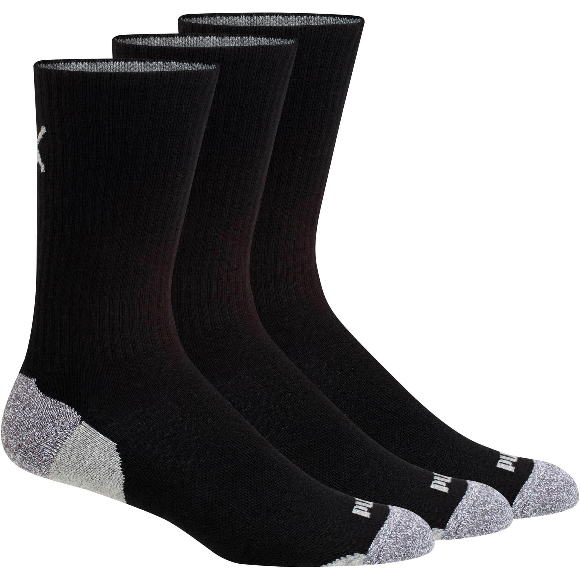Thumbnail 1 of Impact Men's Crew Socks (3 Pack), black-white, medium