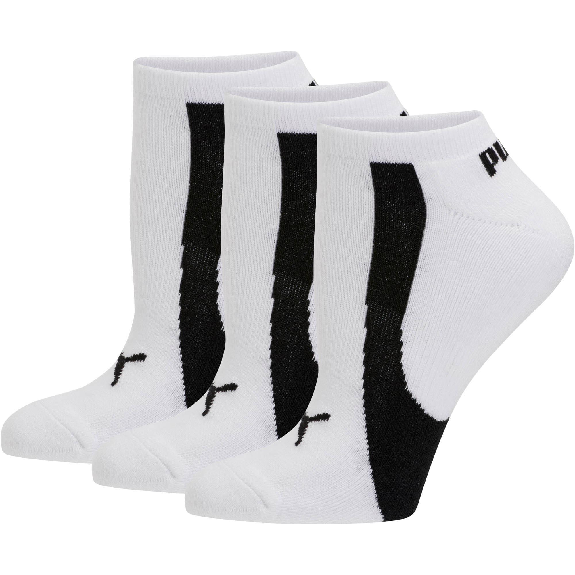 Thumbnail 1 of Women's No Show Socks [3 Pack], white-black, medium